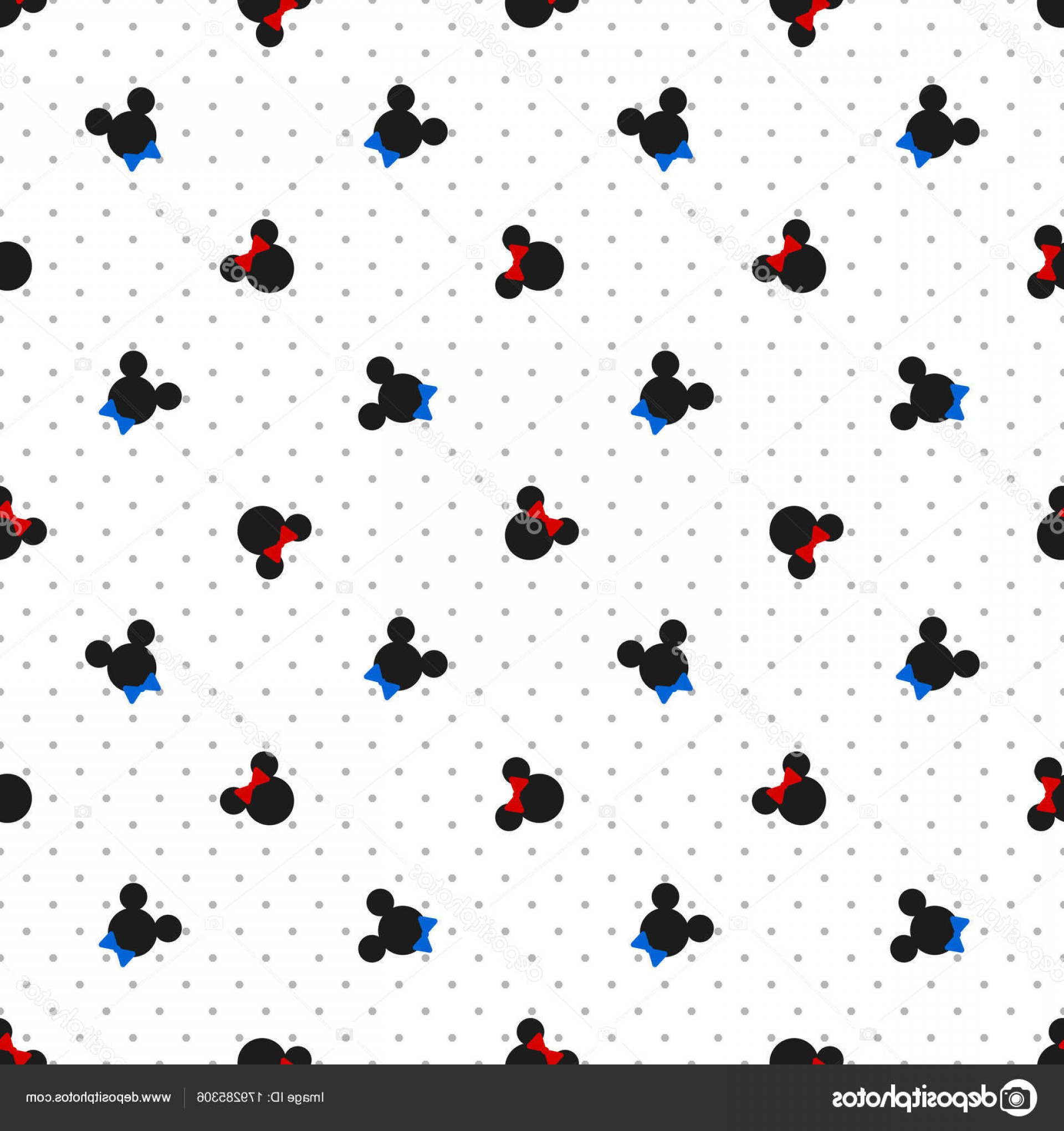 Mickey Vector: Stock Illustration Seamless Pattern Symbol Mickey Mouse