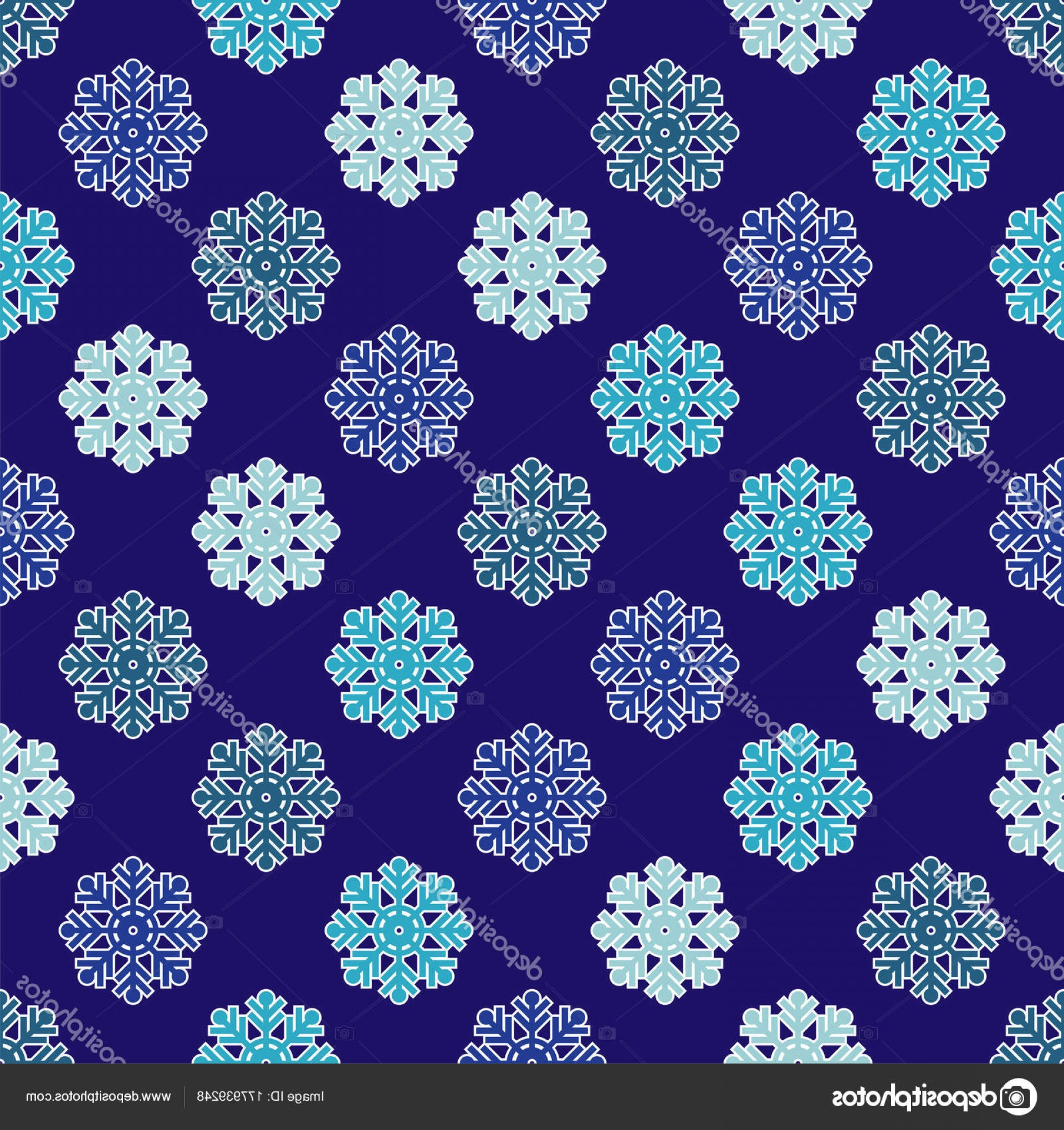 Rapport Vector: Stock Illustration Seamless Vector Background Doodle Snowflakes