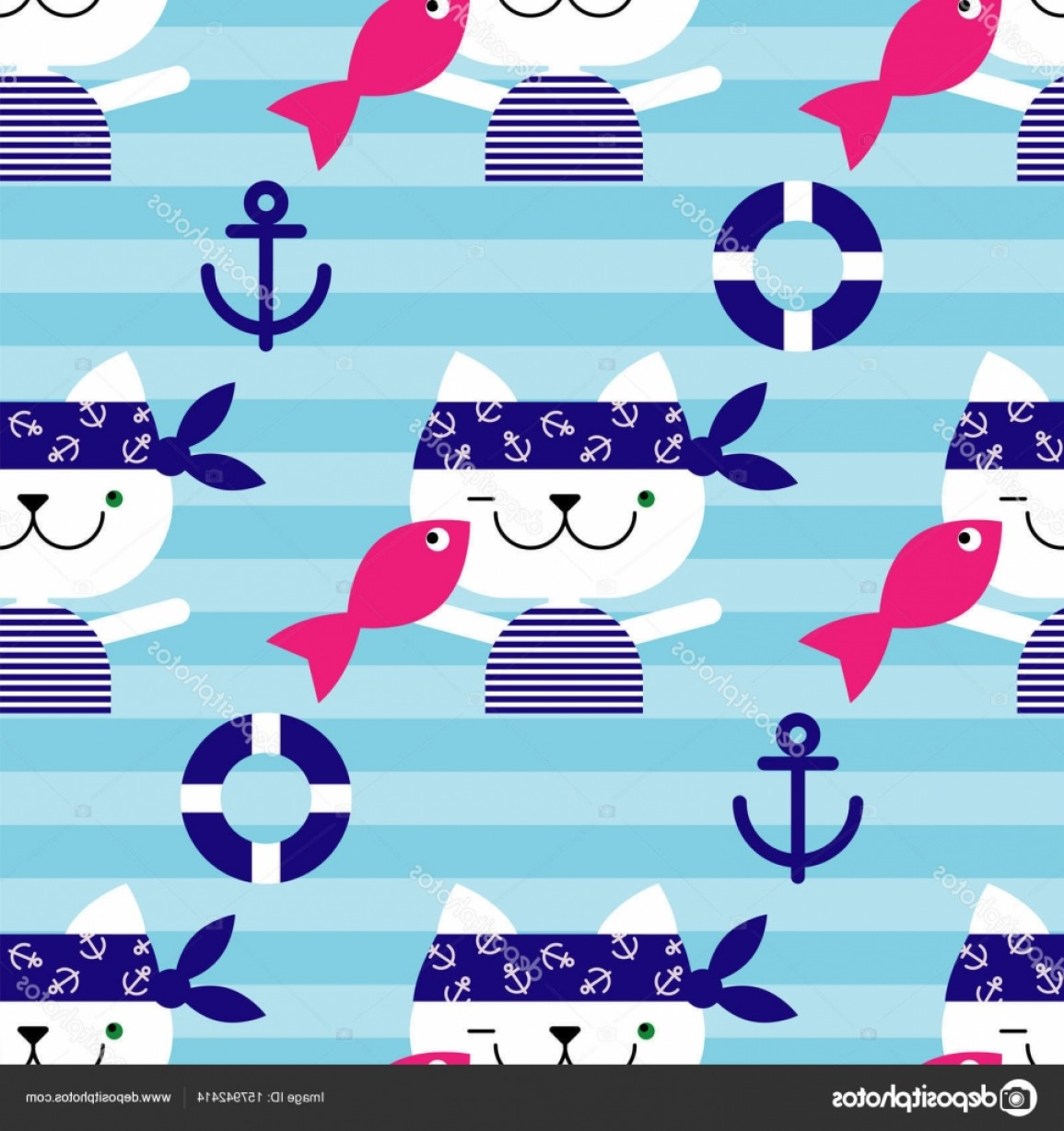 Rapport Vector: Stock Illustration Seamless Vector Background With Cats