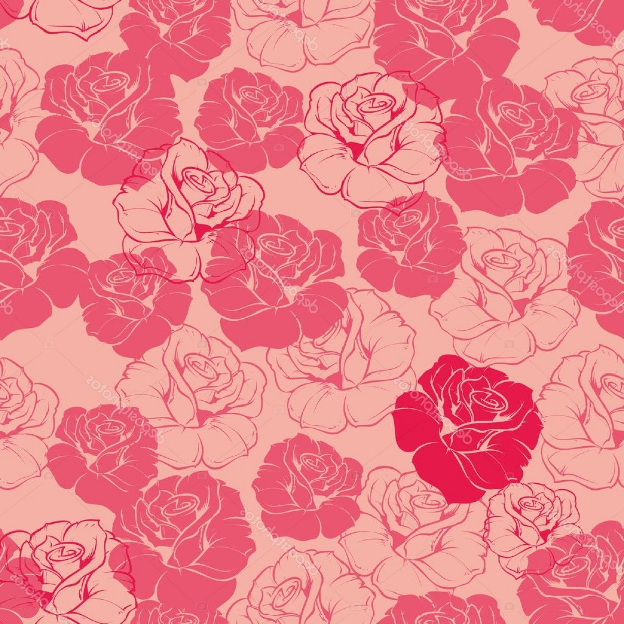 Free Vintage Vector Desktop Wallpaper: Stock Illustration Seamless Vector Pink And Red