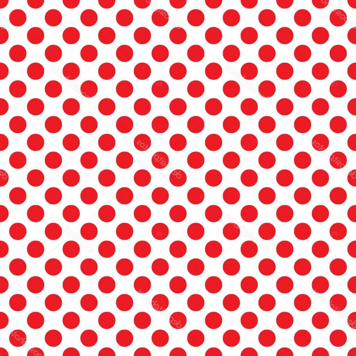 Polka Dot Background Vector Y: Stock Illustration Seamless Vector Red Polka Dots
