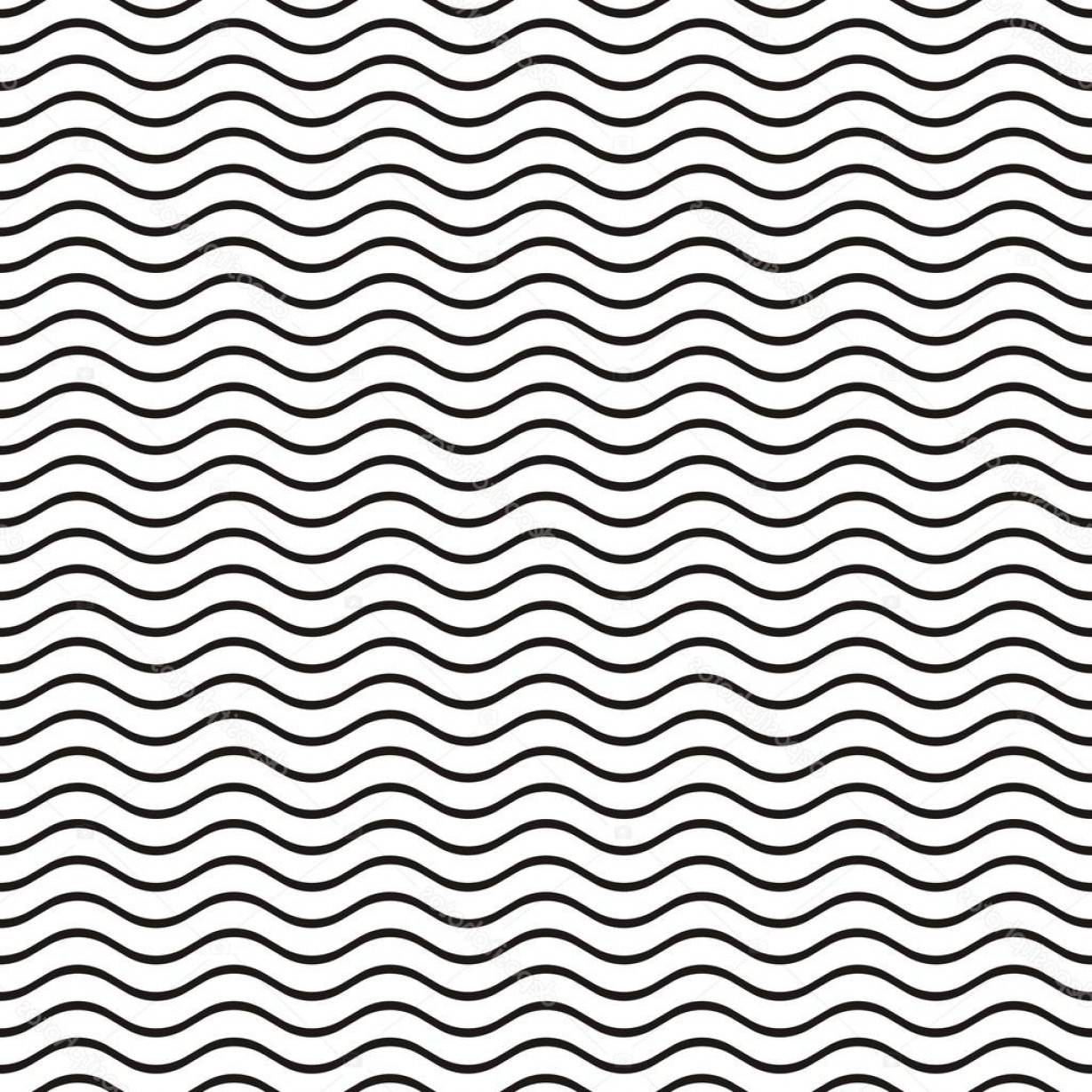 Wavy Line Illustrator Vector: Stock Illustration Seamless Wavy Line Pattern