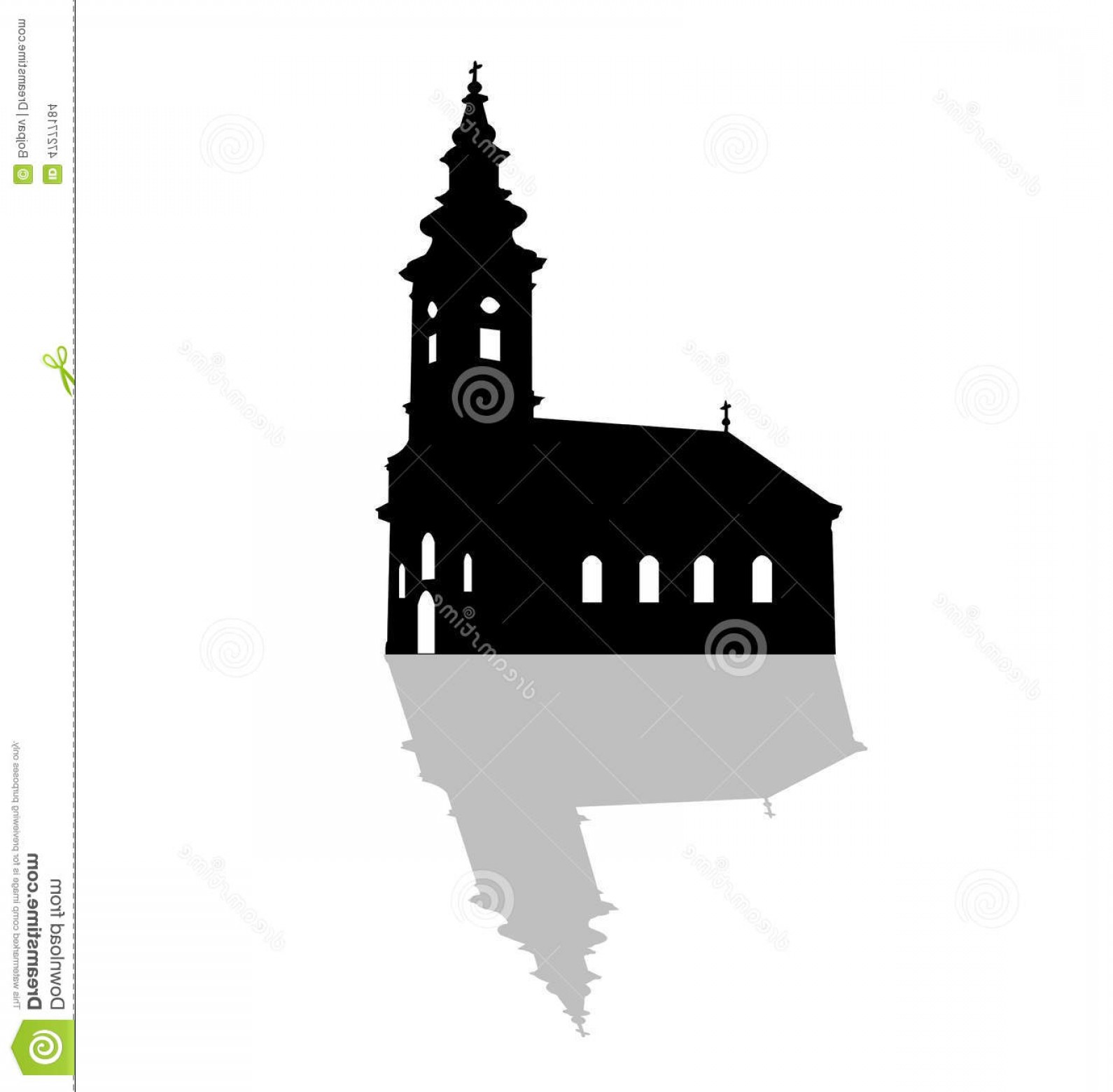 Church Silhouette Vector: Stock Illustration Serbian Orthodox Church Vector Silhouette Image