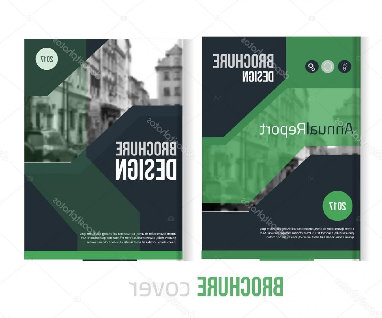 Vector Brochure Cover Designs: Stock Illustration Set Of Vector Brochure Cover