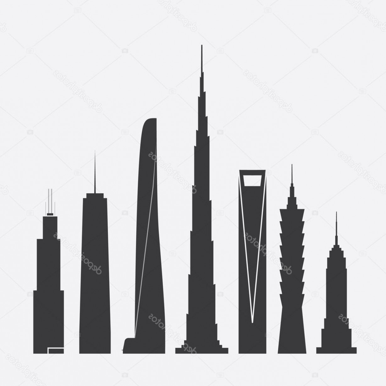 Empire State Vector: Stock Illustration Set Of Vector Illustrations Of