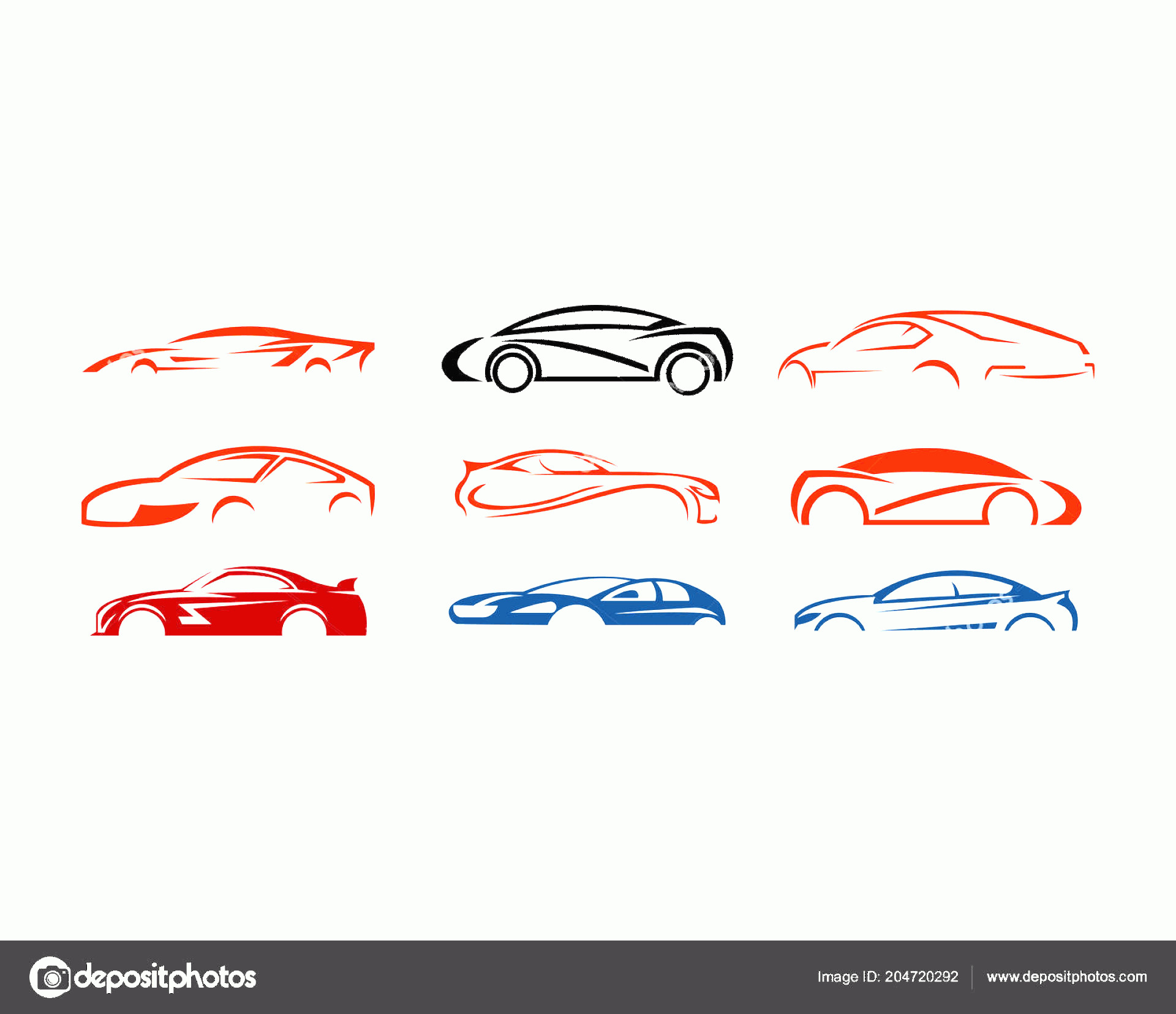 Vector Car: Stock Illustration Set Vector Car Logo Set