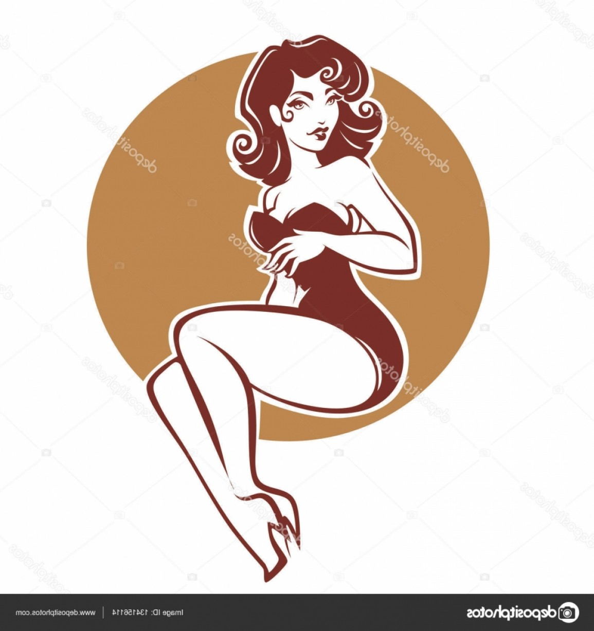 Pin Up Girls Vector Stock: Stock Illustration Sexy And Beauty Retro Pinup