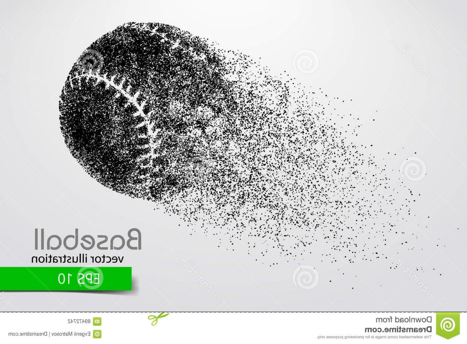 Laces Basball Vector: Stock Illustration Silhouette Baseball Ball Vector Illustration Text Separate Layer Color Can Be Changed One Click Image