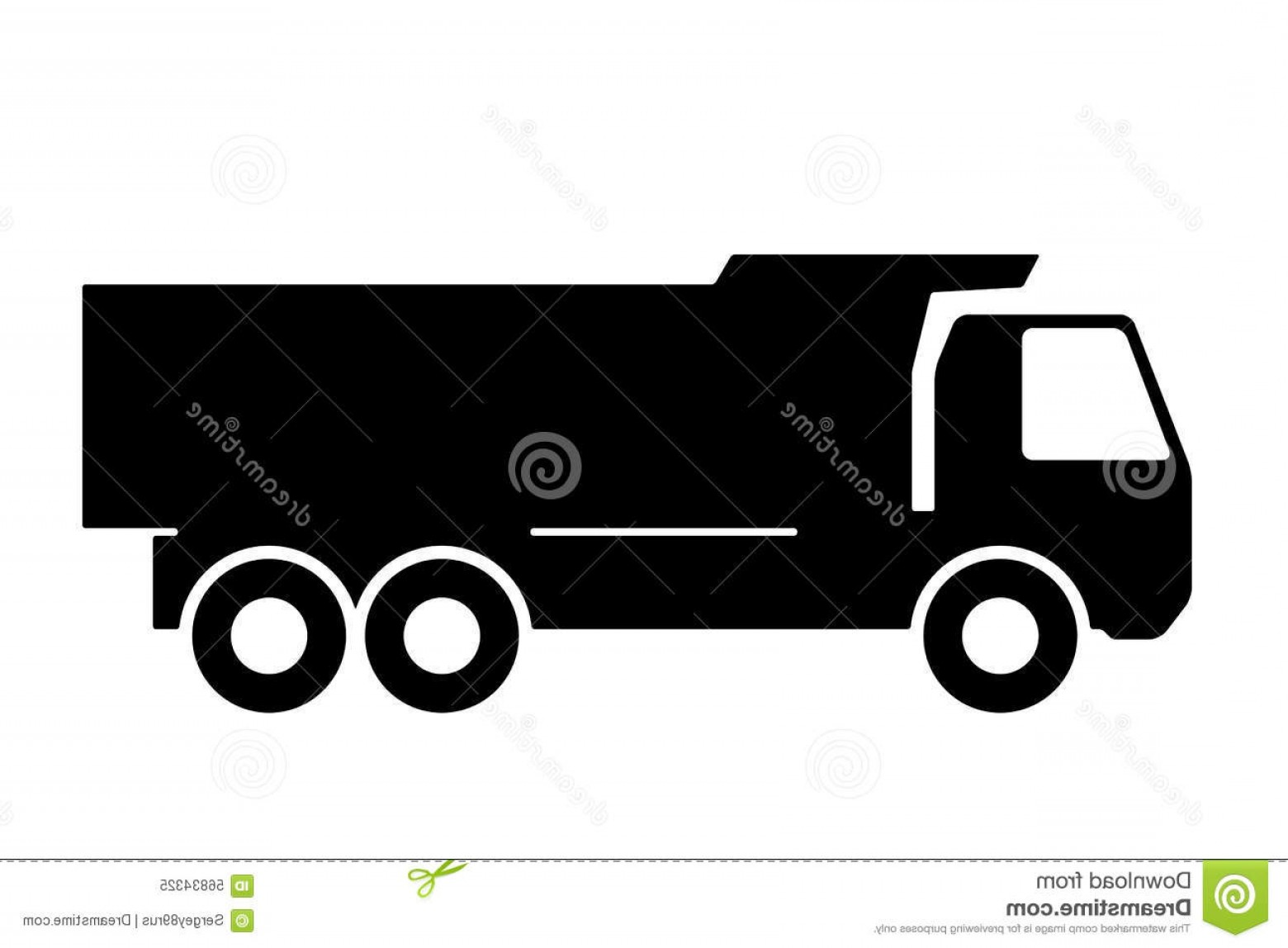 Dump Truck Vector Black And White: Stock Illustration Silhouette Dump Truck White Background Vector Illustration Image