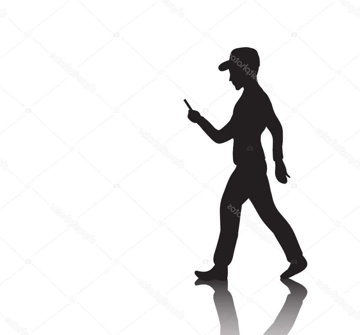 Vector Person Holding: Stock Illustration Silhouette Of A Man Holding