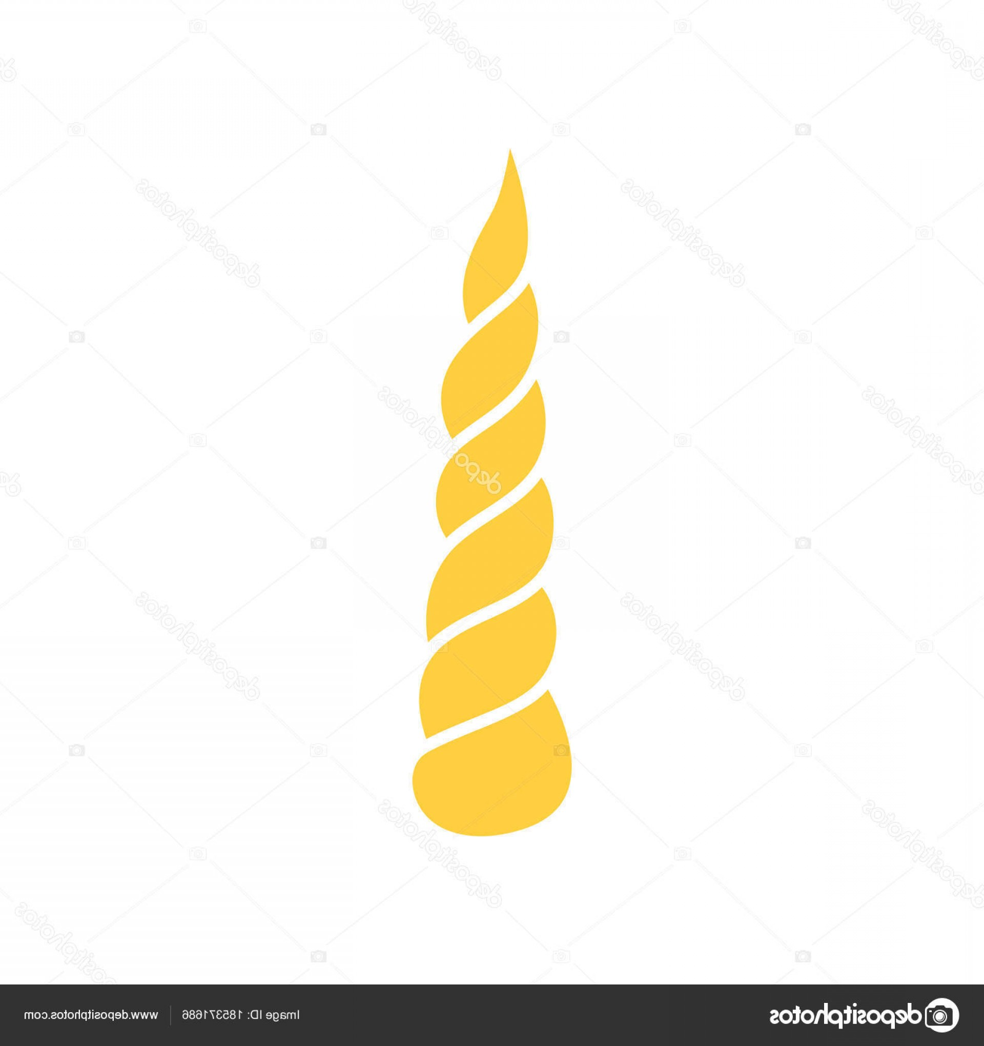 Unicorn Horn Vector: Stock Illustration Silhouette Of Unicorn Horn Isolated