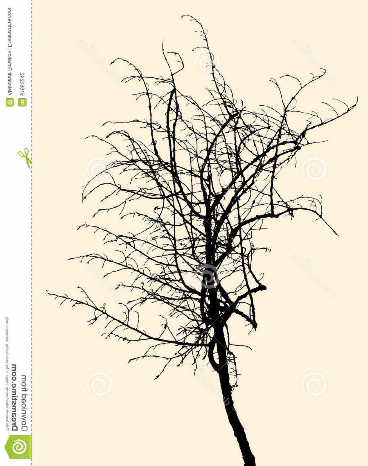 Sapling Vector Tree Silhouette Art: Stock Illustration Silhouette Small Tree Vector Image Sapling Image