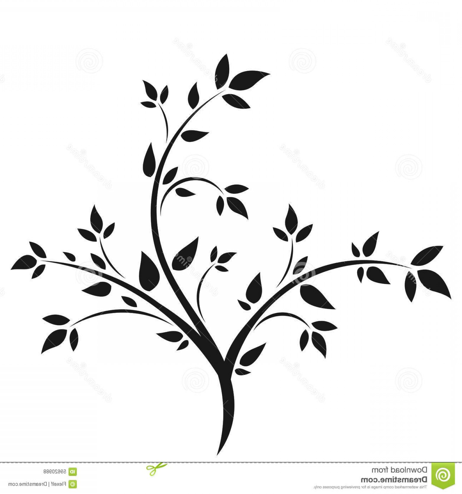 Sapling Vector Tree Silhouette Art: Stock Illustration Silhouette Young Tree Abstract Illustration Image