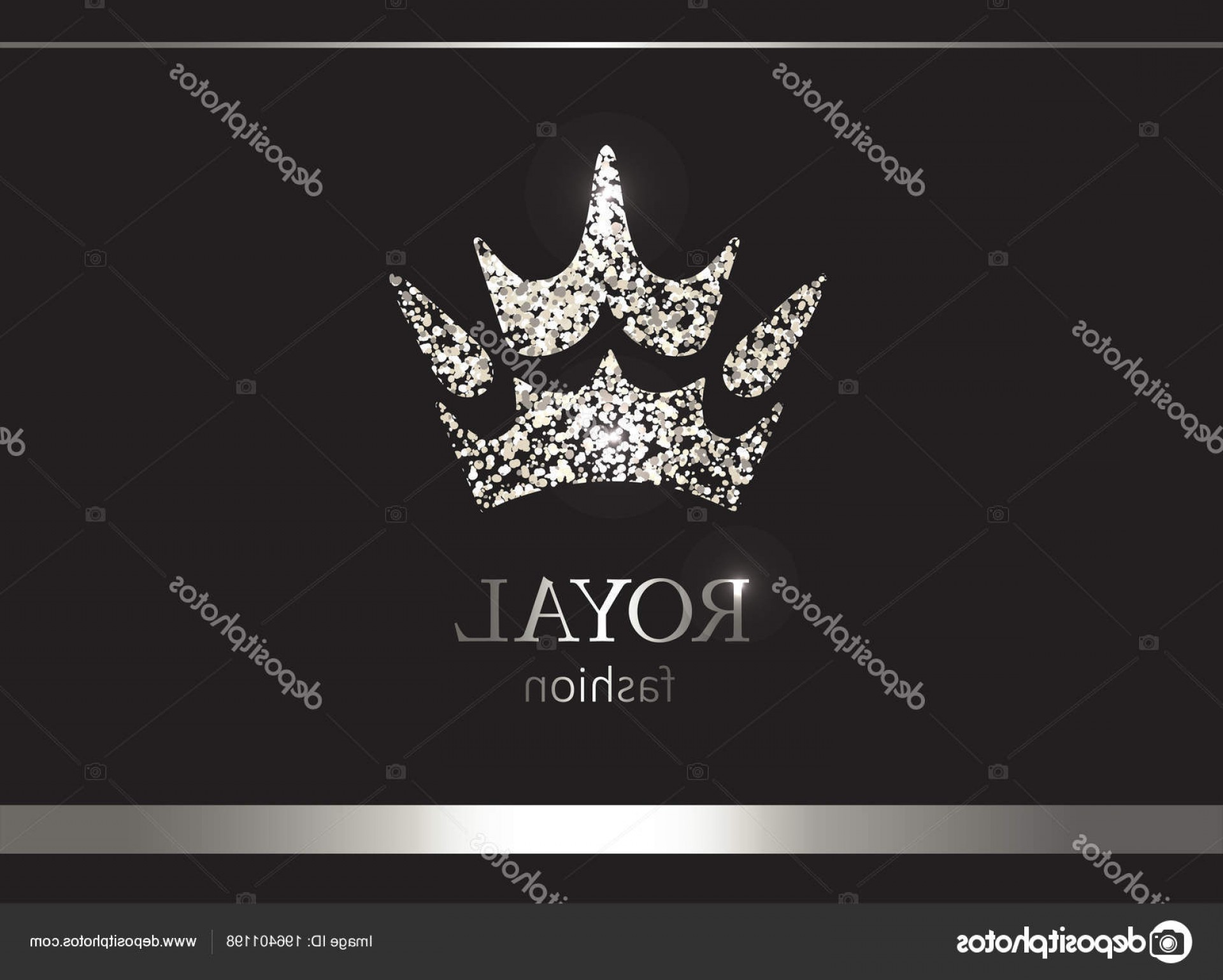 Silver Prince Vector: Stock Illustration Silver Crown Luxury Label Emblem