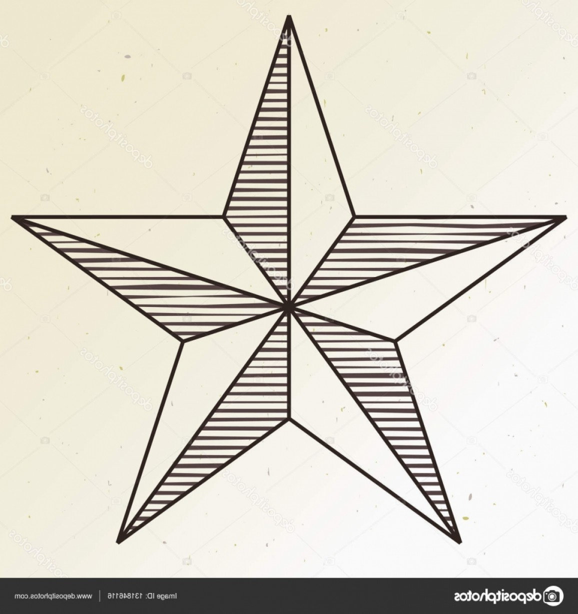 5 Point Star Vector Art: Stock Illustration Simple Five Pointed Star