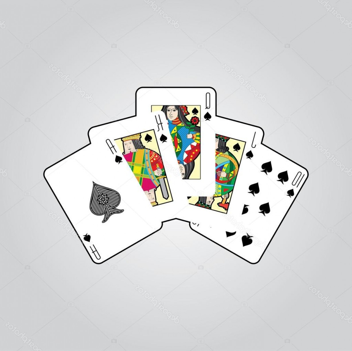Single Playing Card Vector: Stock Illustration Single Playing Cards Vector Spades