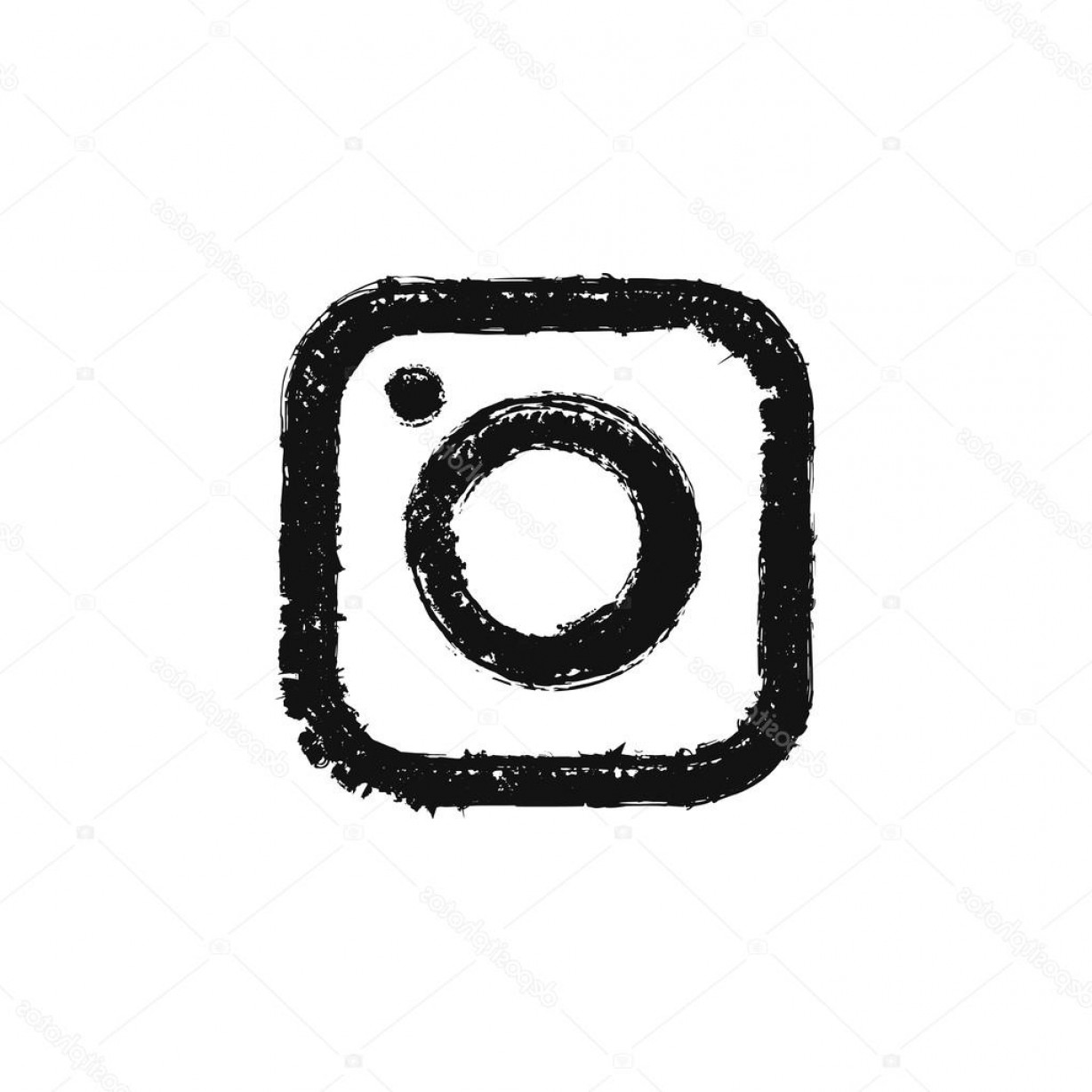 Official Instagram Icon Vector: Stock Illustration Sketch Instagram Modern Camera Logo