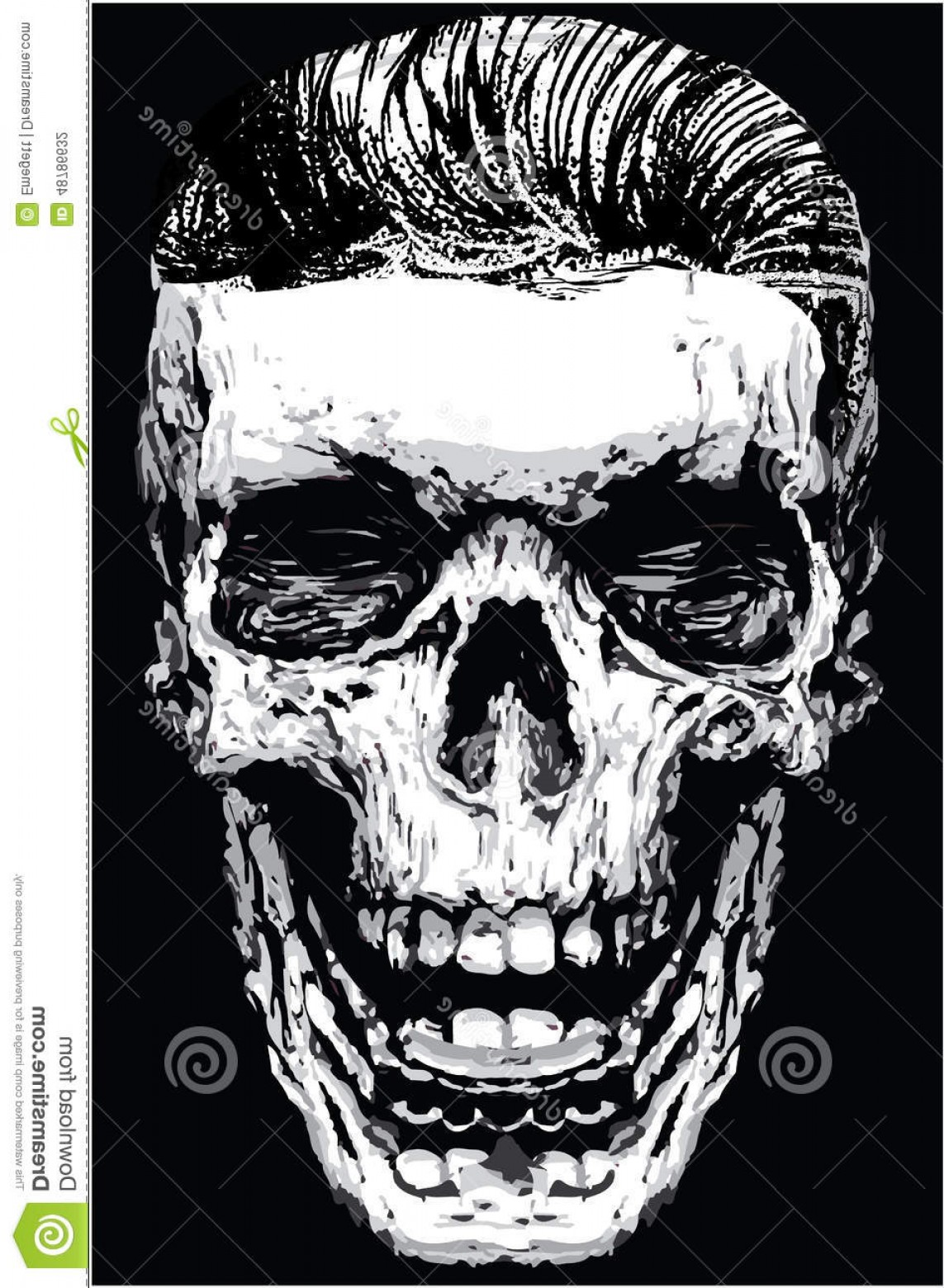 Skull Vector T-shirt Illustration: Stock Illustration Skull Death Print Man T Shirt Graphic Vector Design Printing Art Illustration Image