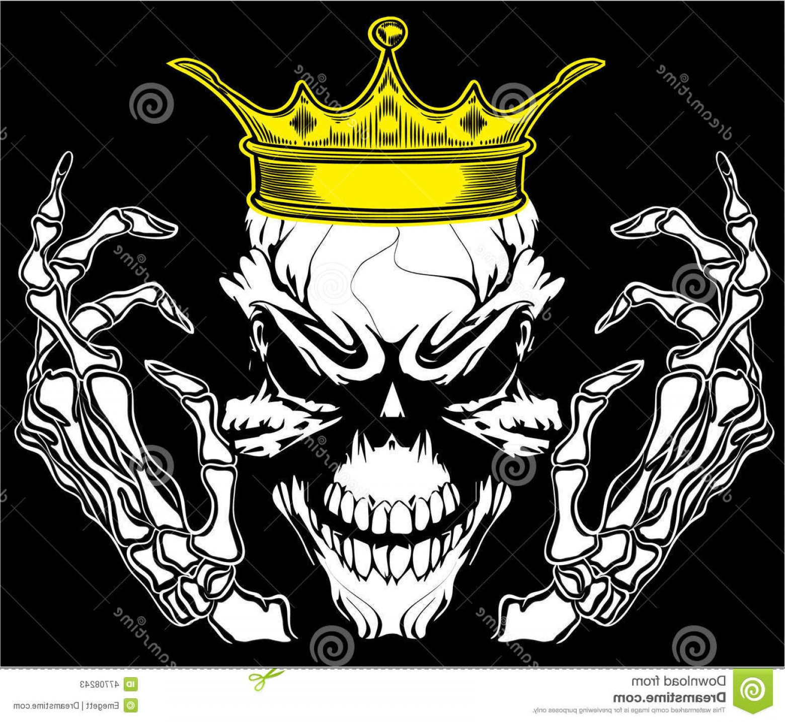Skull Vector T-shirt Illustration: Stock Illustration Skull King Poster Vintage Man T Shirt Graphic Vector Design Crossbones Mark Danger Warning Graphics Super Image