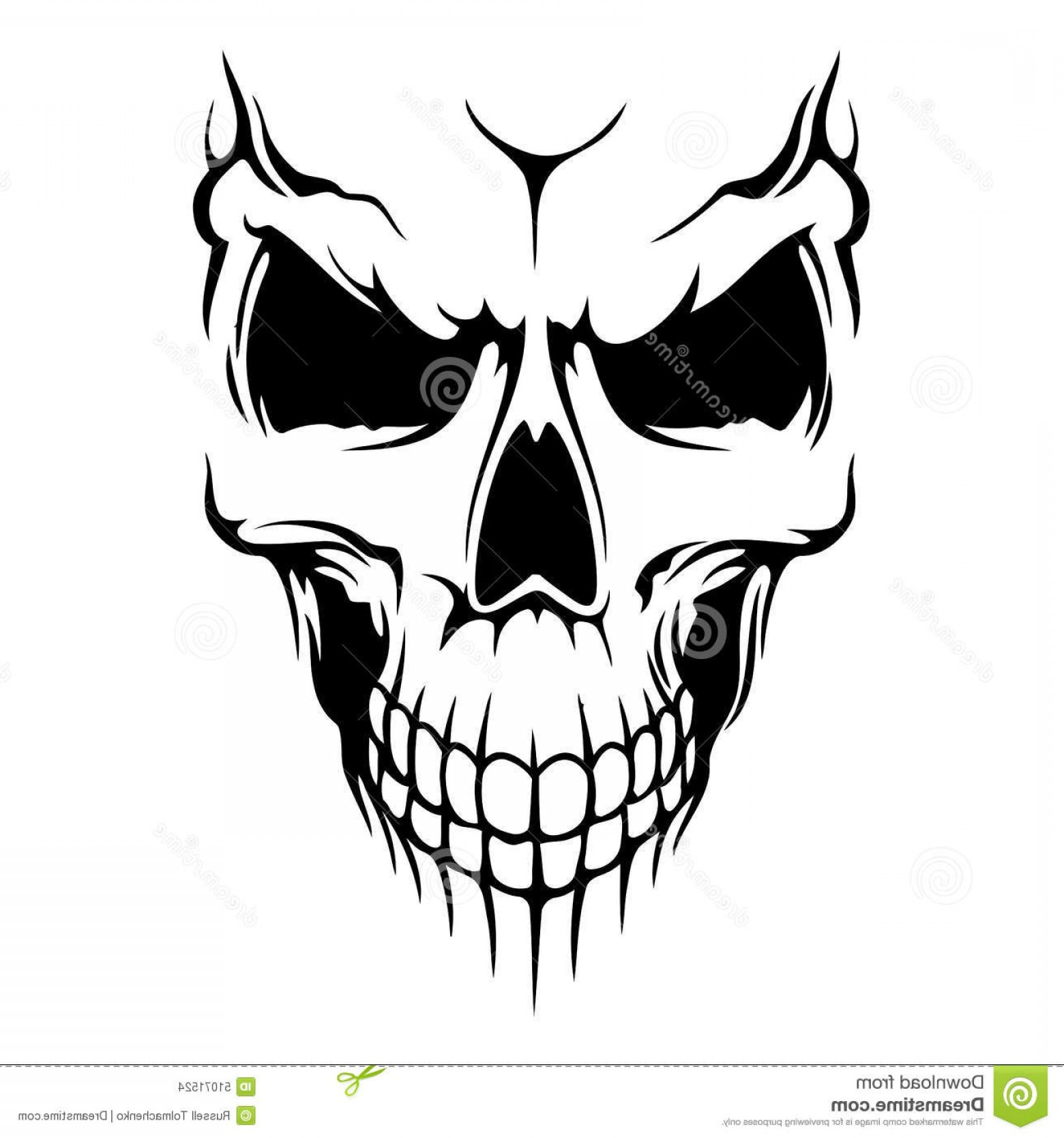 Cool Skull Vector: Stock Illustration Skull Vector Poster Eps Format Image