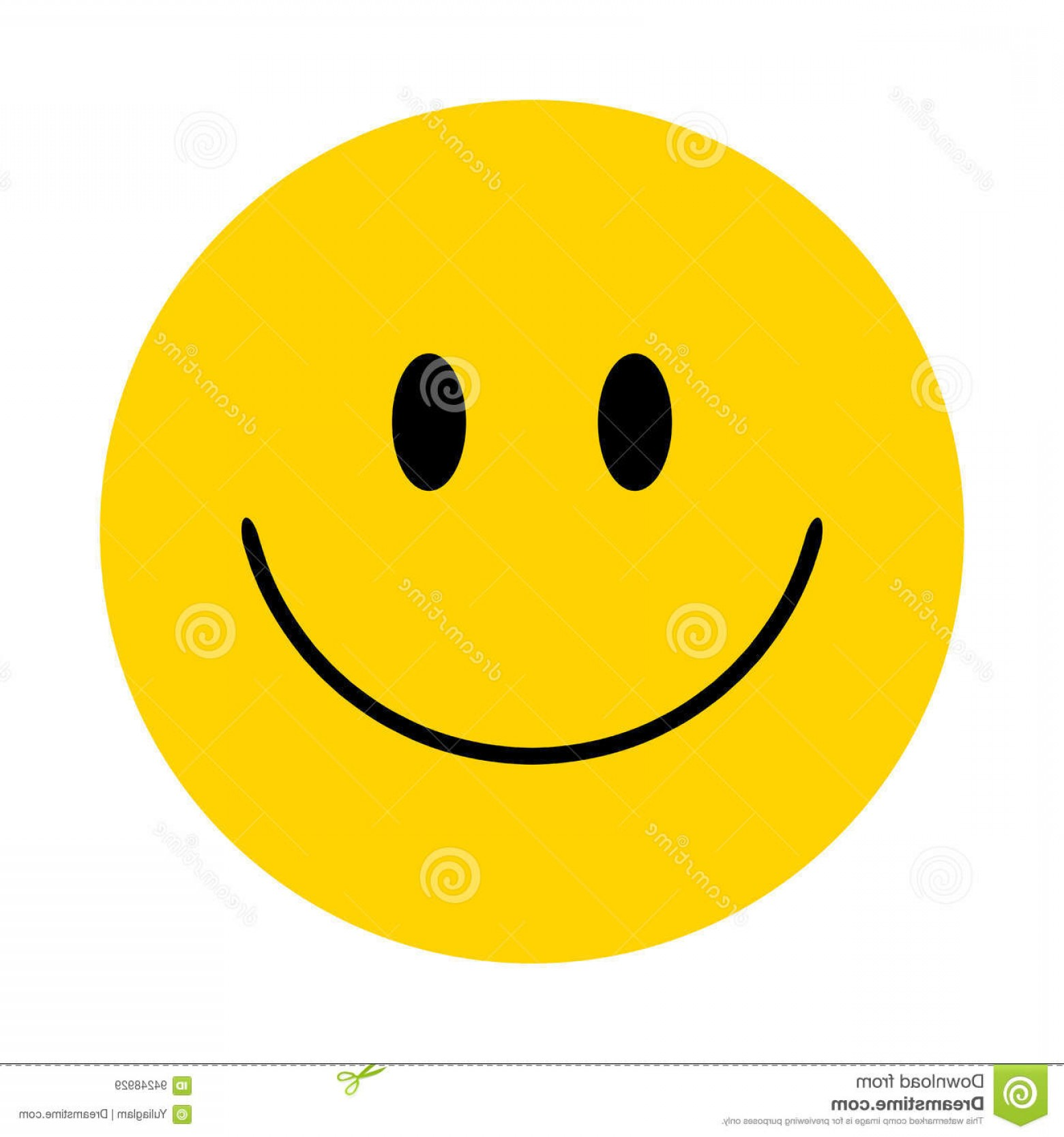 Excited Face Emoji Vector: Stock Illustration Smiley Vector Happy Face Yellow Image