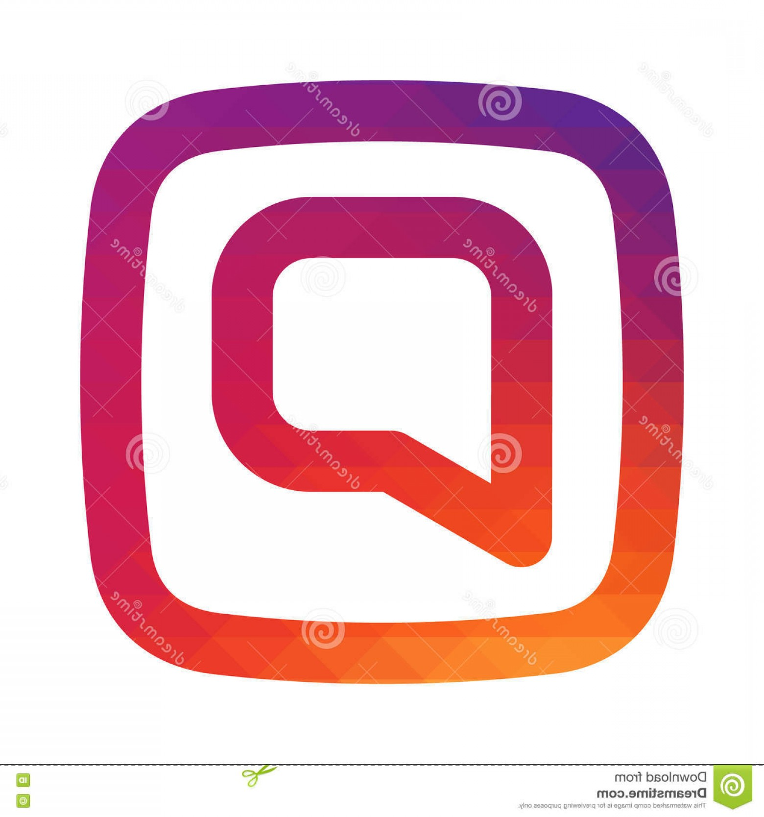 Instagram App Icon Vector: Stock Illustration Smooth Color Gradient Comments Instagram Icon Your Social Media App Design Vector Illustration Image