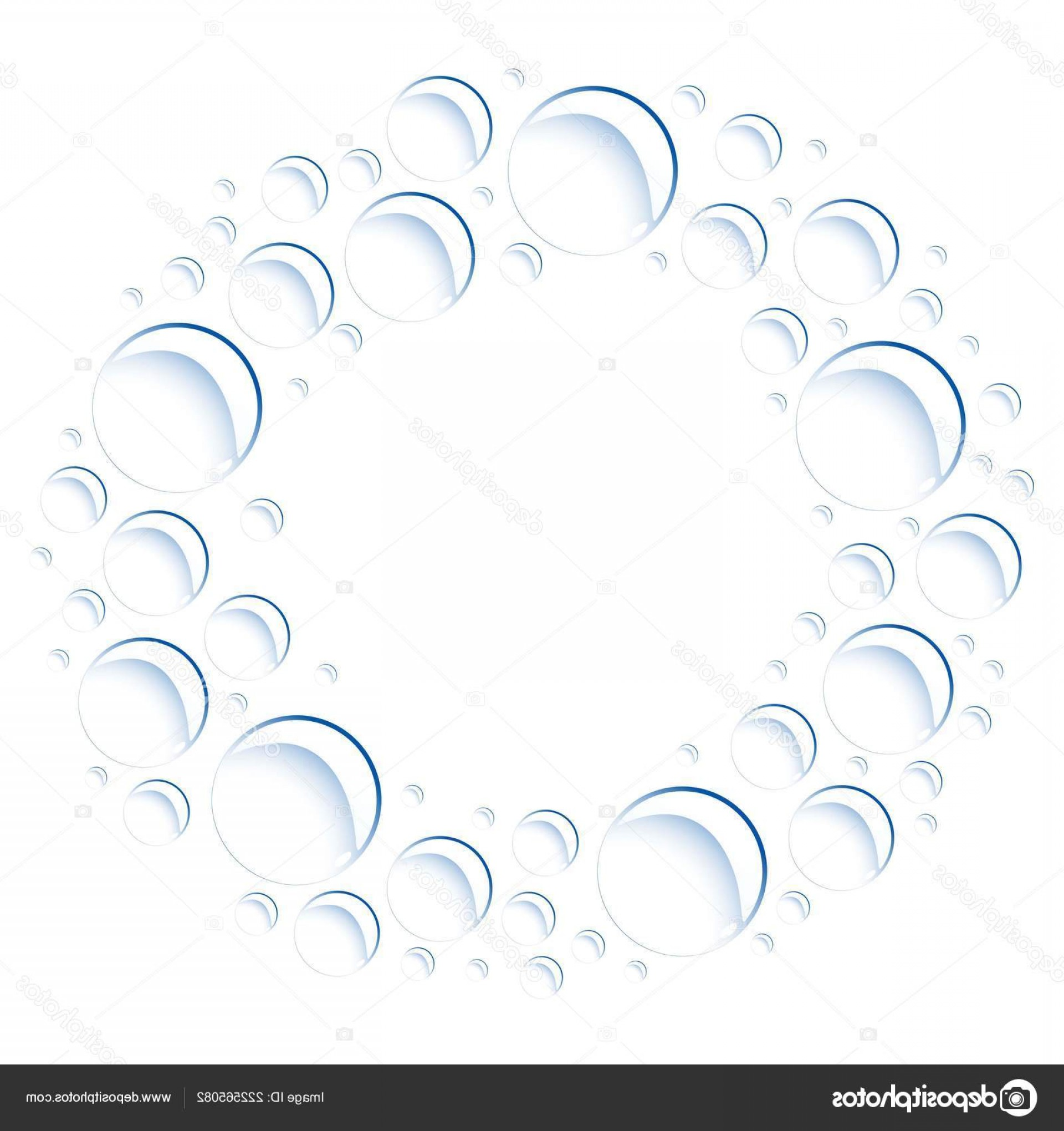 EPS Vector Soap Bubbles: Stock Illustration Soap Bubbles Located Circle Vector