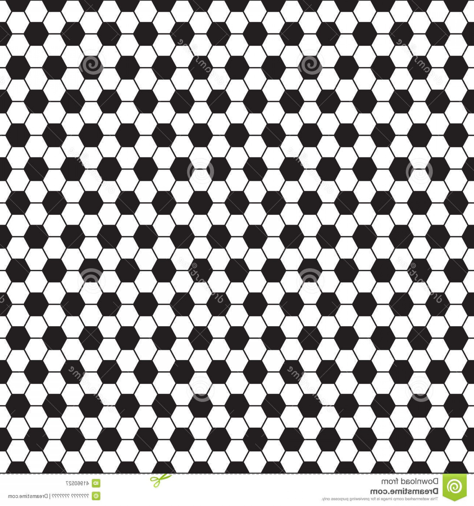 Vector Soccer Ball Pattern: Stock Illustration Soccer Ball Vector Seamless Pattern Texture Black White Hexagon Image