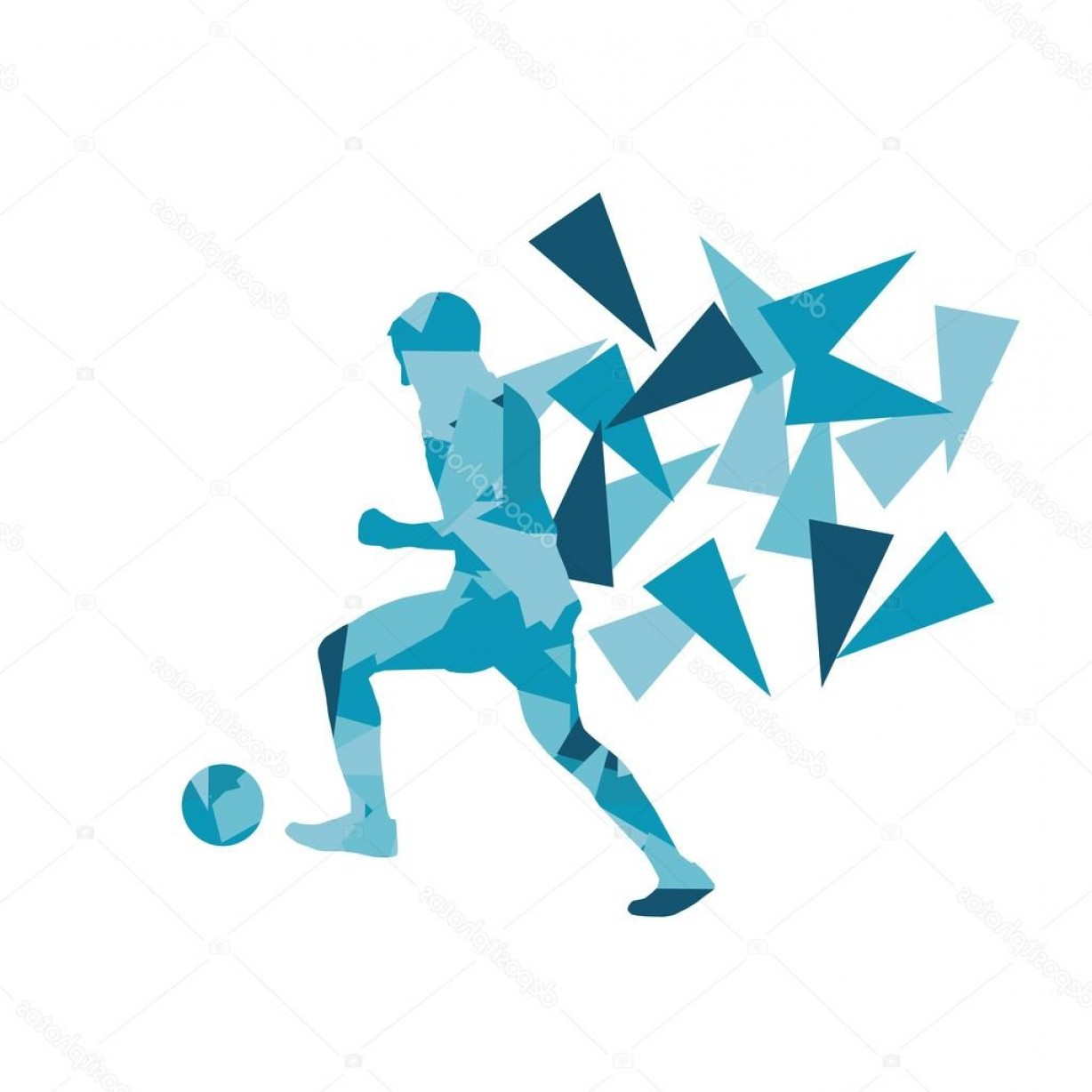 Abstract Football Vector Outline: Stock Illustration Soccer Football Player Vector Background