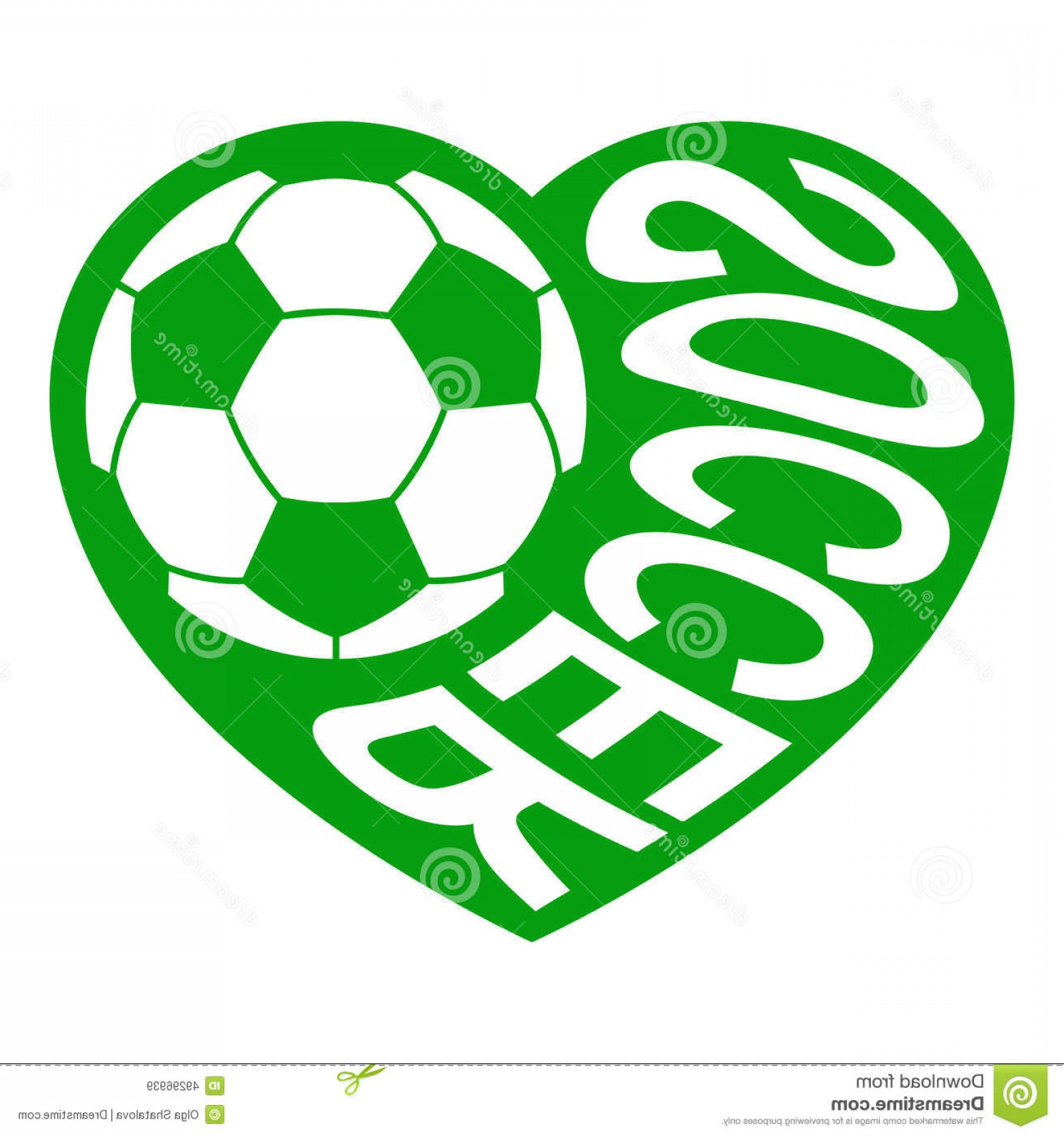 Soccer Ball Heart Beat Vector: Stock Illustration Soccer Heart Ball Inscription Form Vector Illustration Different Graphics All Separate Layers Can Image