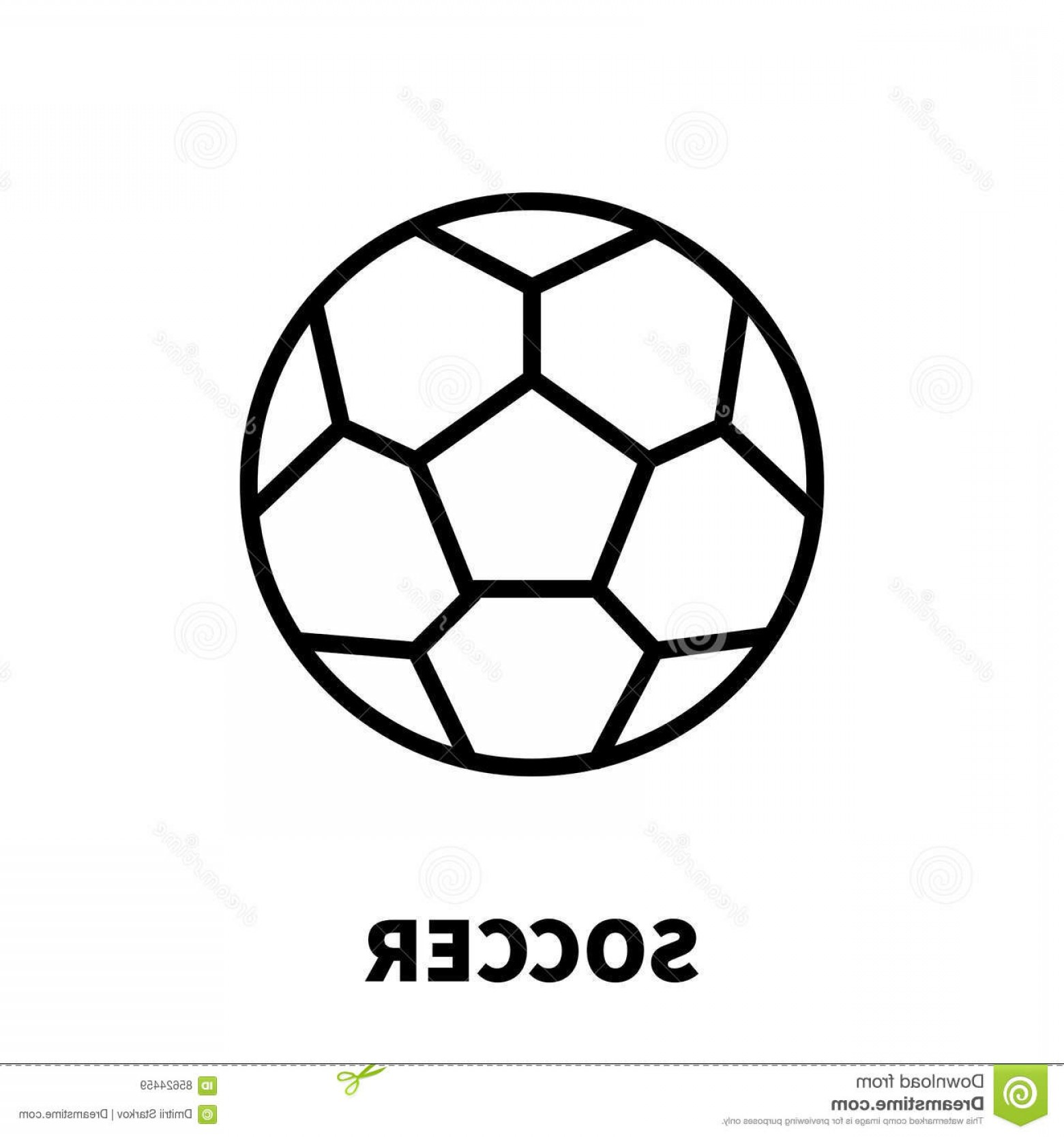Abstract Football Vector Outline: Stock Illustration Soccer Icon Logo Modern Line Style High Quality Black Outline Pictogram Web Site Design Mobile Apps Vector Image