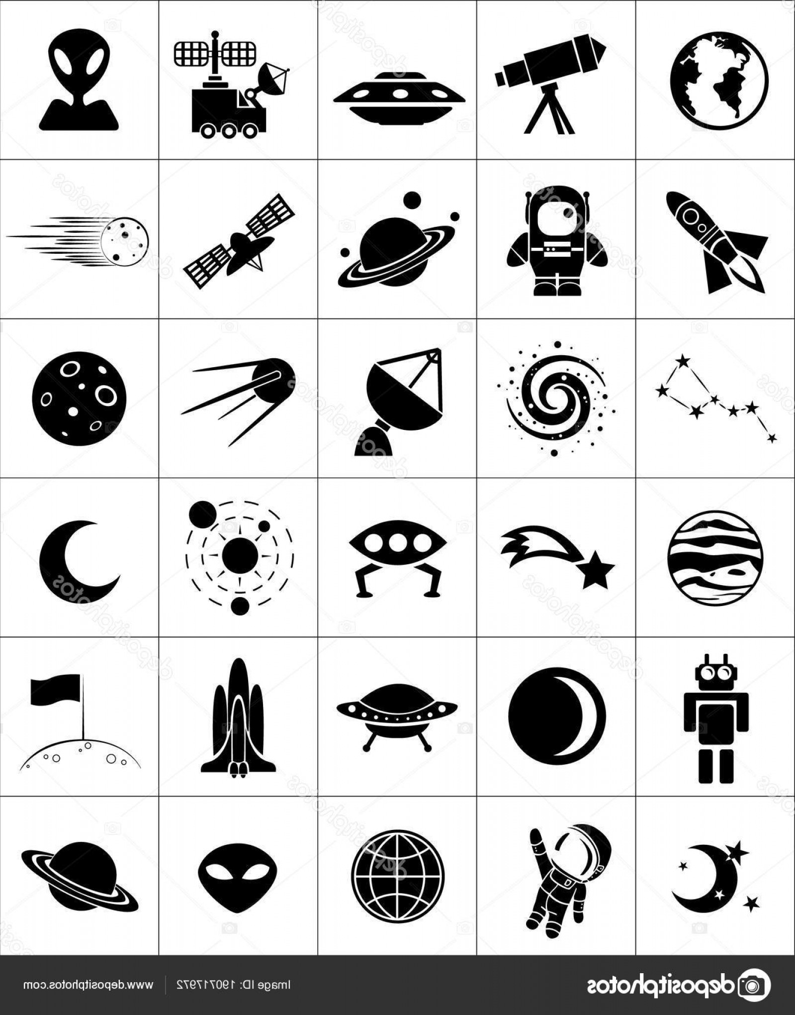 Cosmic Vector Imige: Stock Illustration Space Cosmic Vector Icons