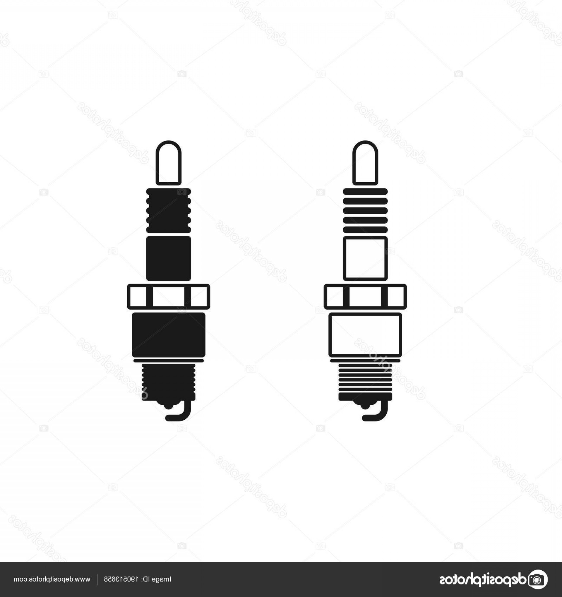 Spark Plug Vector: Stock Illustration Spark Plug Vector Icon Mobile