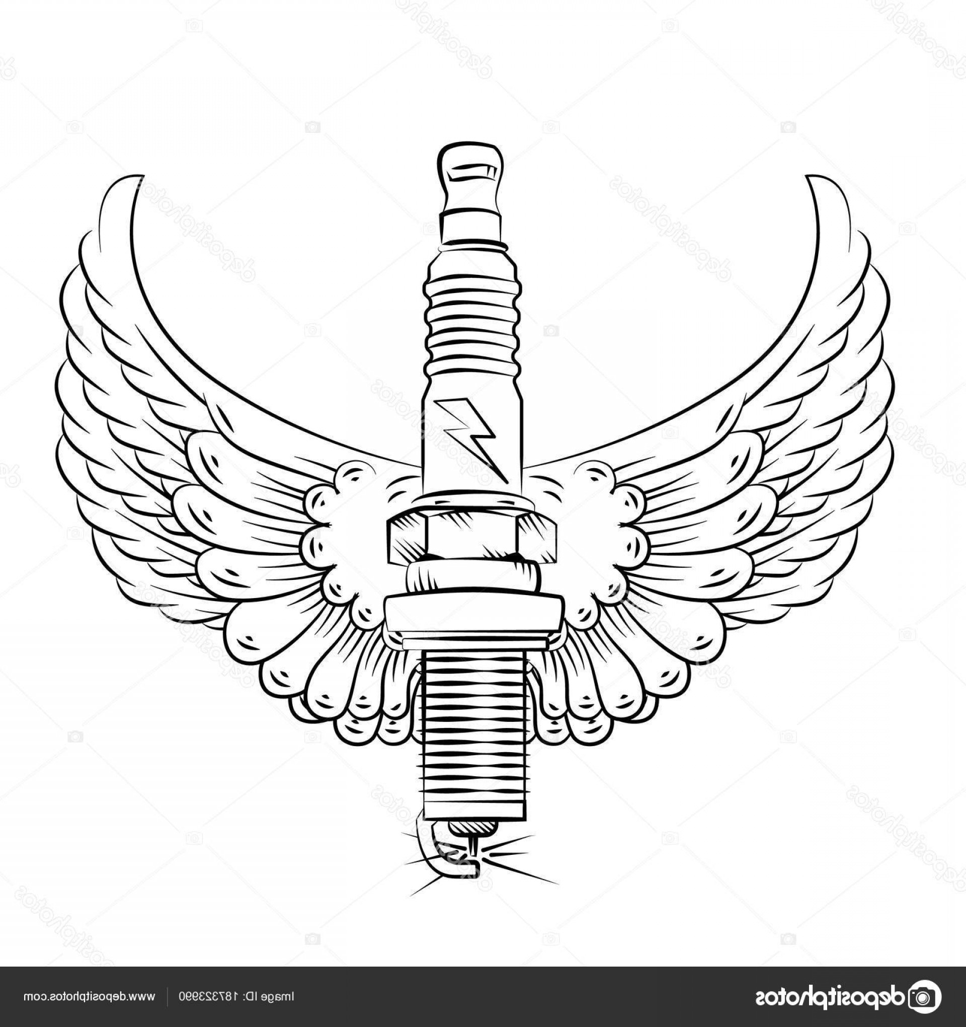 Spark Plug Vector: Stock Illustration Spark Plug Vector Logotype Plug