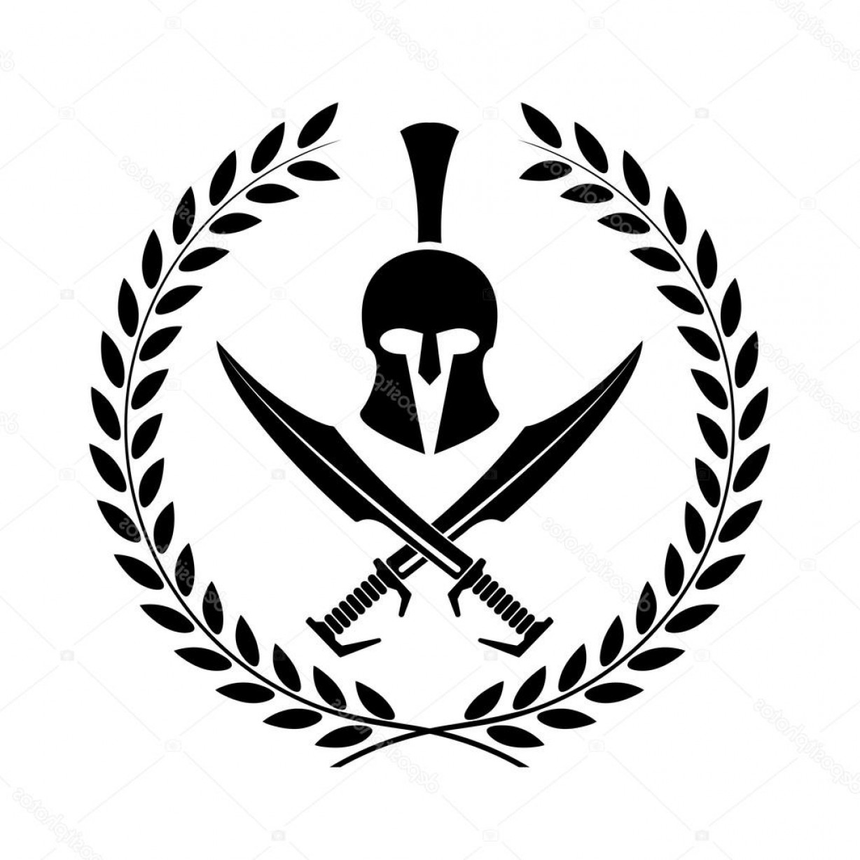 Warrior Vector Art: Stock Illustration Spartan Helmet Icon Symbol Of