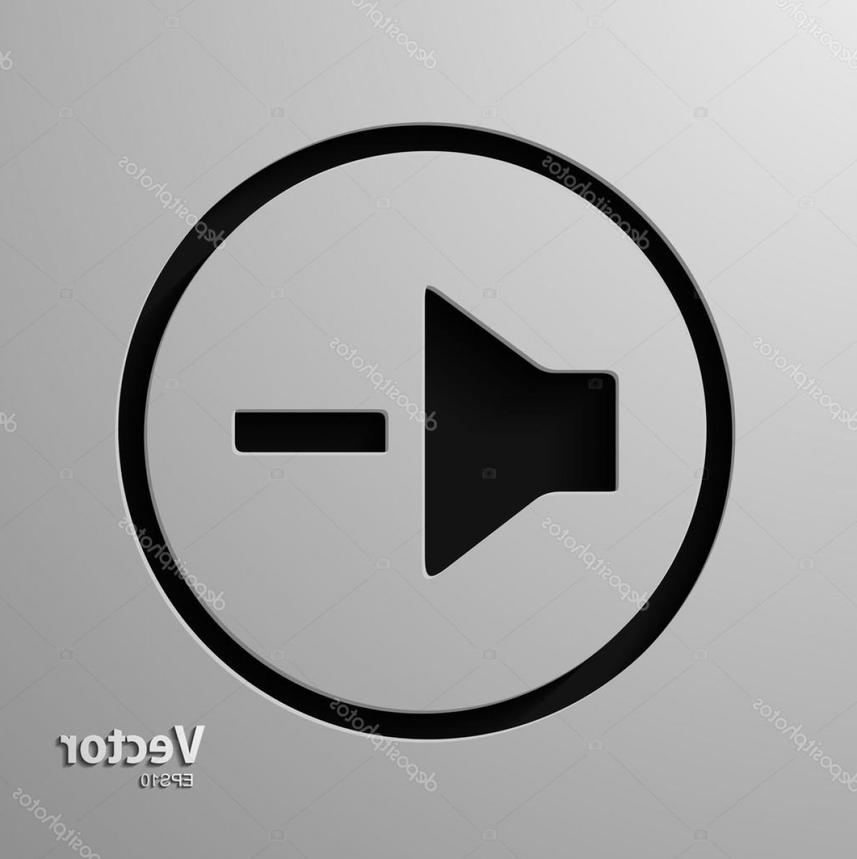 Volume Button Vector: Stock Illustration Speaker Volume Quiet Icon