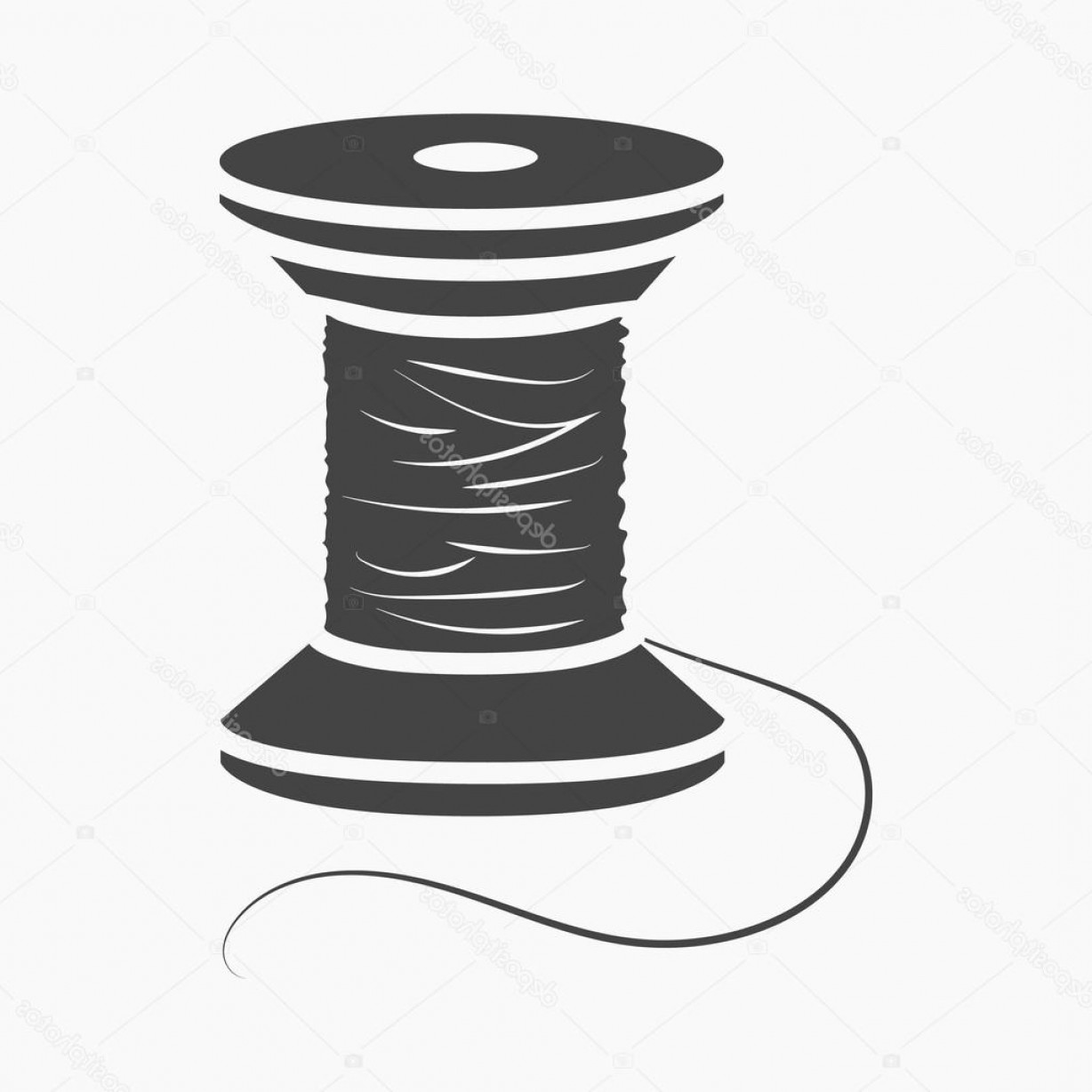Sewing Spool Vector: Stock Illustration Spool Of Thread Icon Of