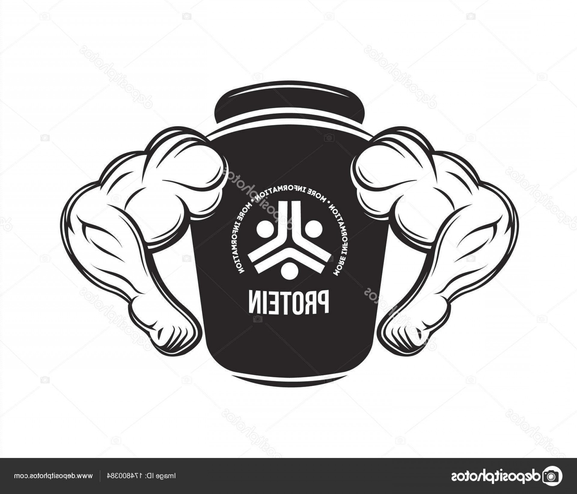 Vector Protein: Stock Illustration Sport Nutrition Protein Jar Fitness