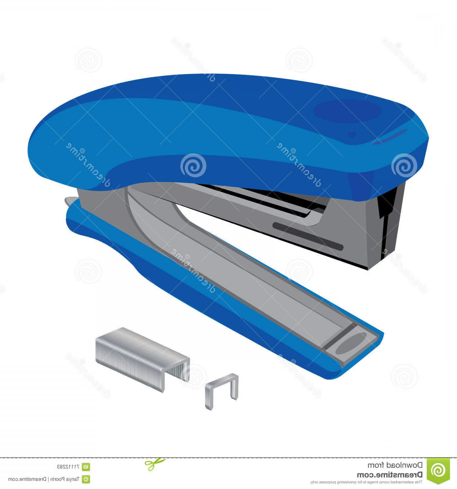 White Staples Vector Logo: Stock Illustration Stapler Staples Stapler Staples White Background Object Tool Business Image
