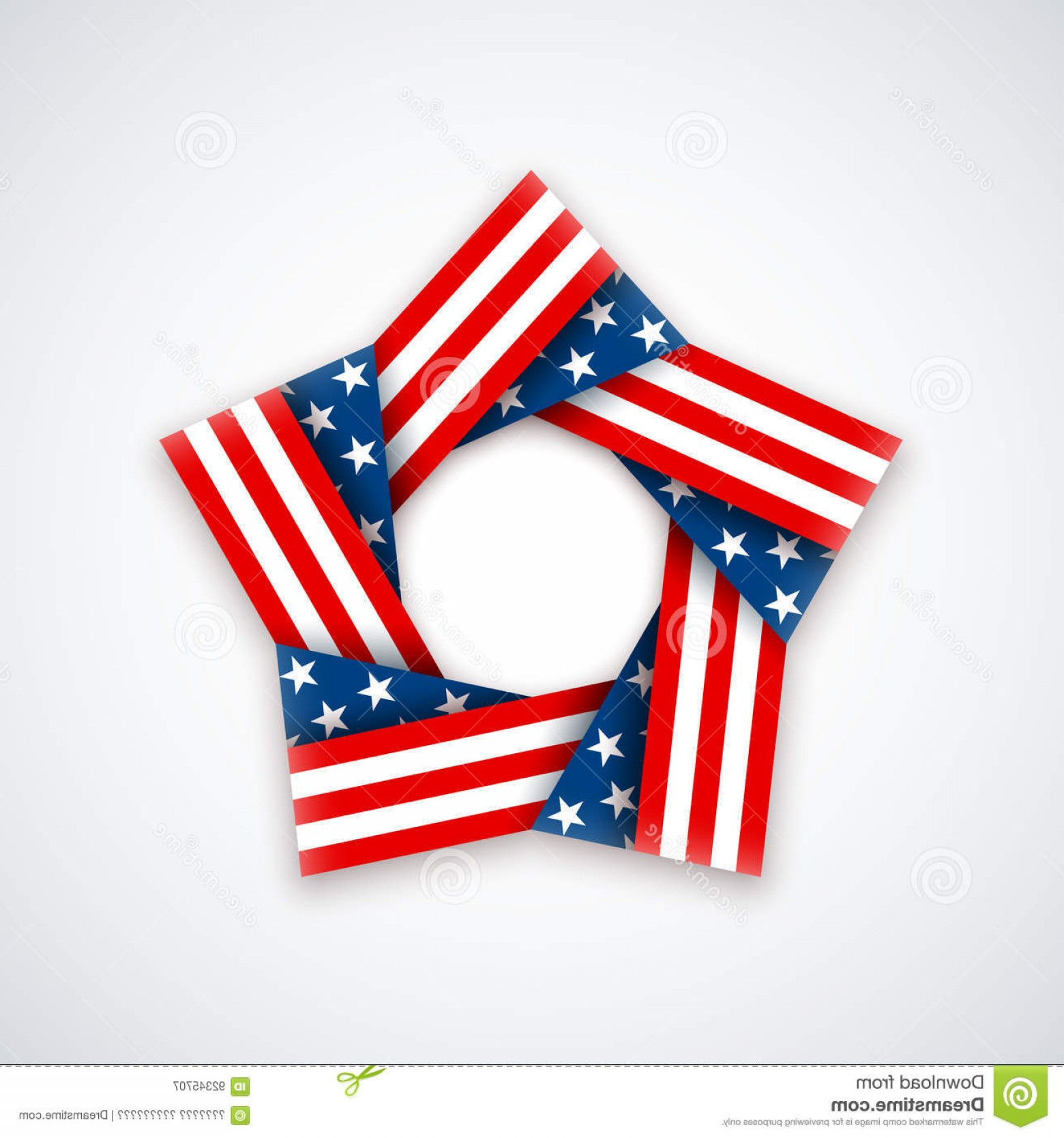 American Flag Stars Only Vector: Stock Illustration Star Made Double Ribbon American Flag Stars Stripes Vector Illustration Usa National Holidays Image
