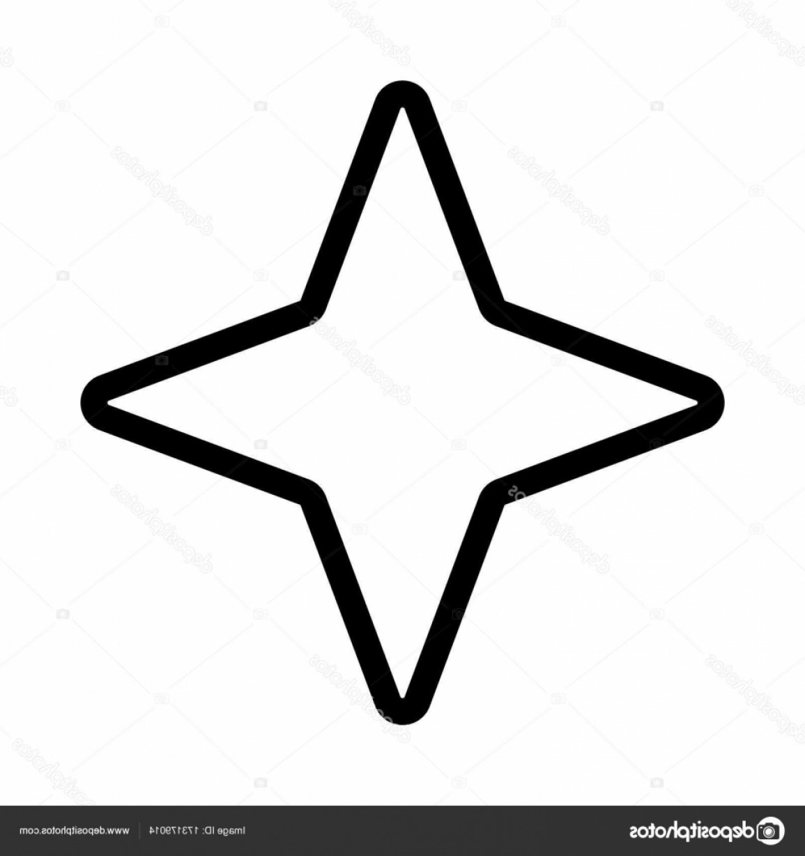 Starburst Icon Vector: Stock Illustration Star Thin Line Vector Icon