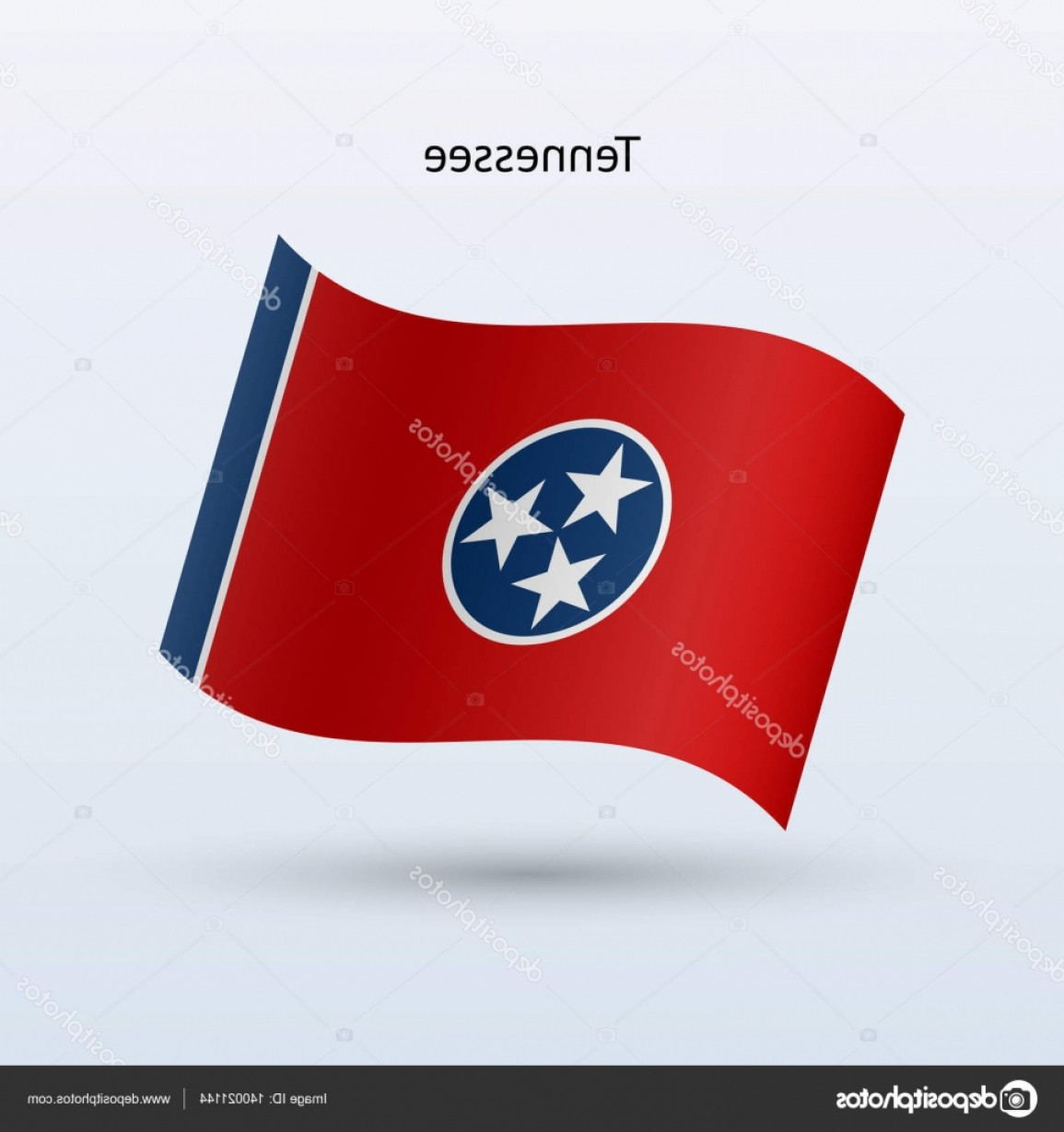 Tennessee Flag Vector: Stock Illustration State Of Tennessee Flag Waving