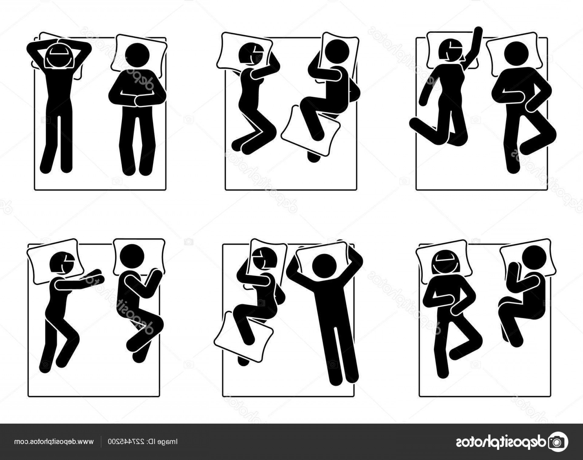 Stick Figure Positions Vector Set: Stock Illustration Stick Figure Different Sleeping Positions