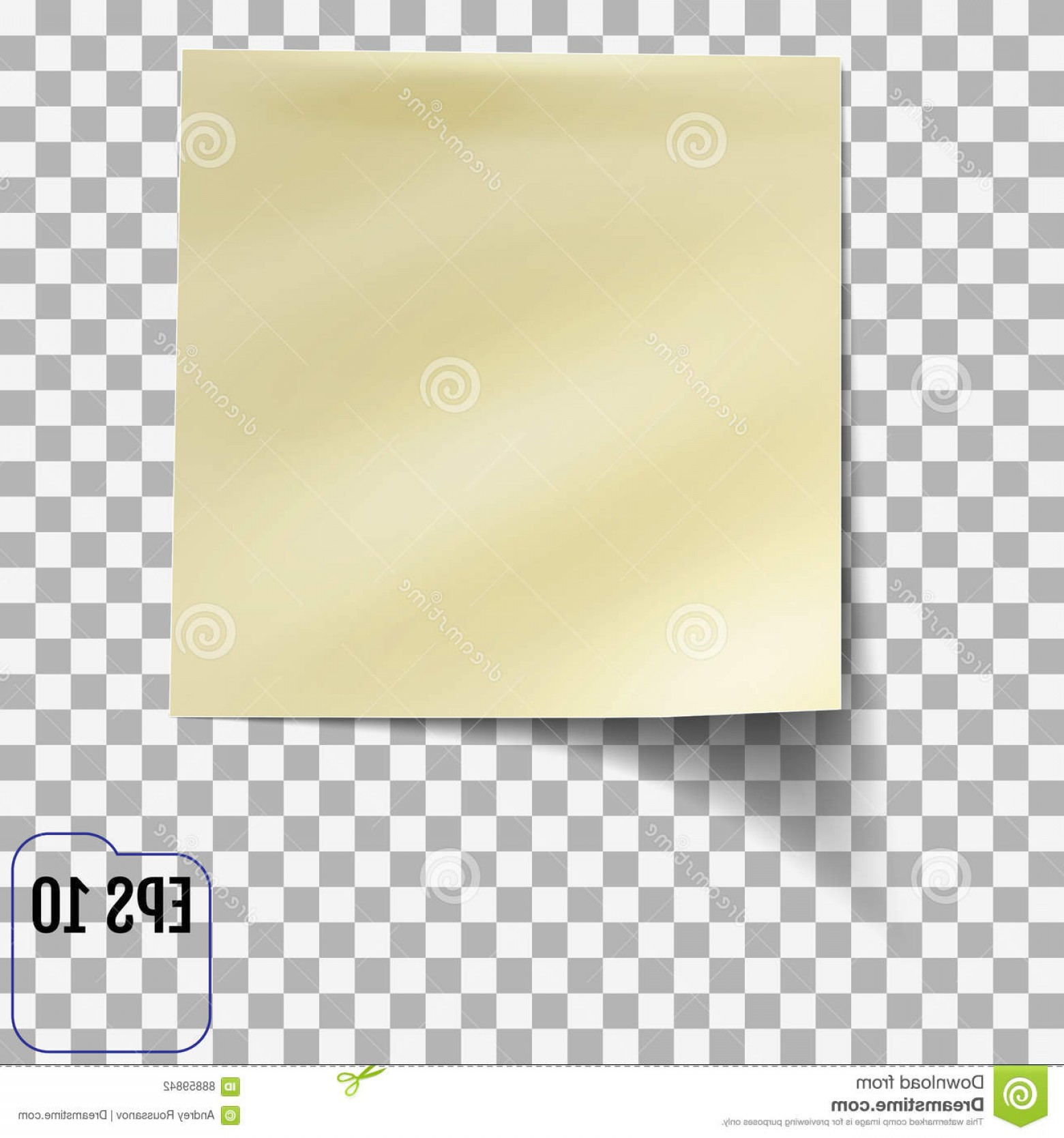 Transparent Brown Vector Background: Stock Illustration Sticky Note Transparent Background Template You Your Projects Vector Illustration Image