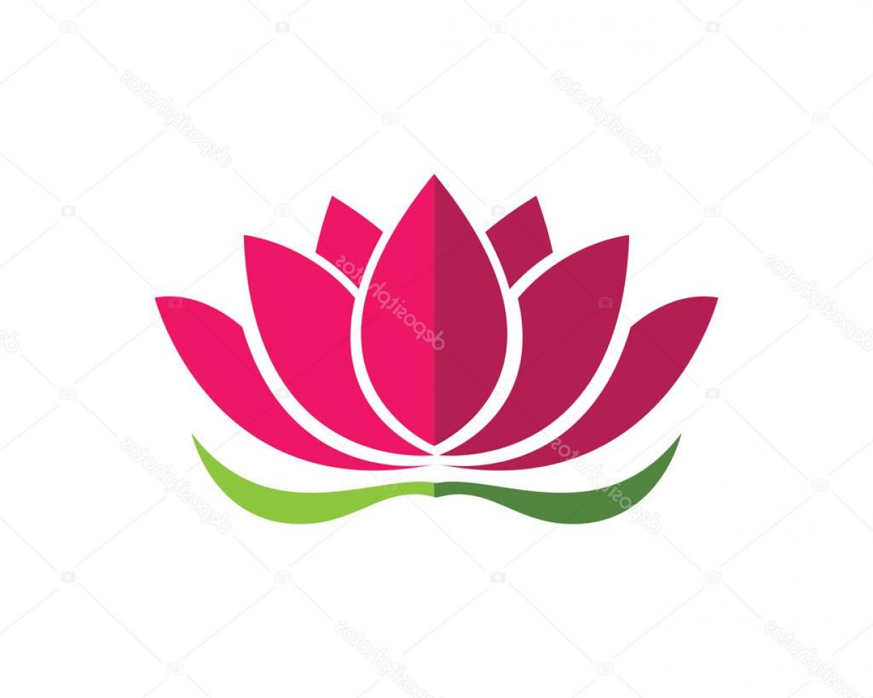 Icon Of Flower Vectors: Stock Illustration Stylized Lotus Flower Icon Vector
