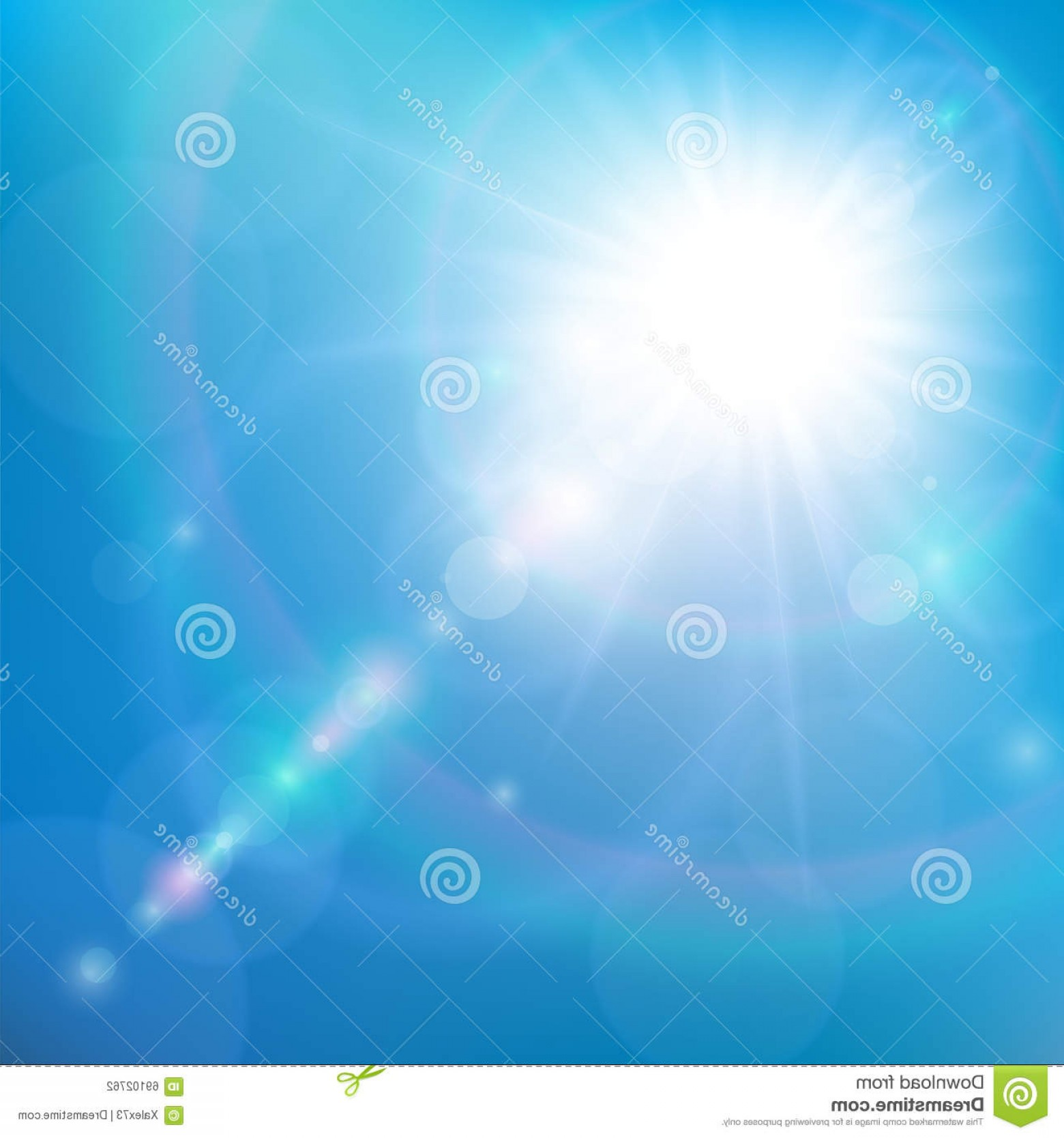 Vector Natural Background Sky: Stock Illustration Sunshine Blue Sky Vector Natural Background Sun Shining Image