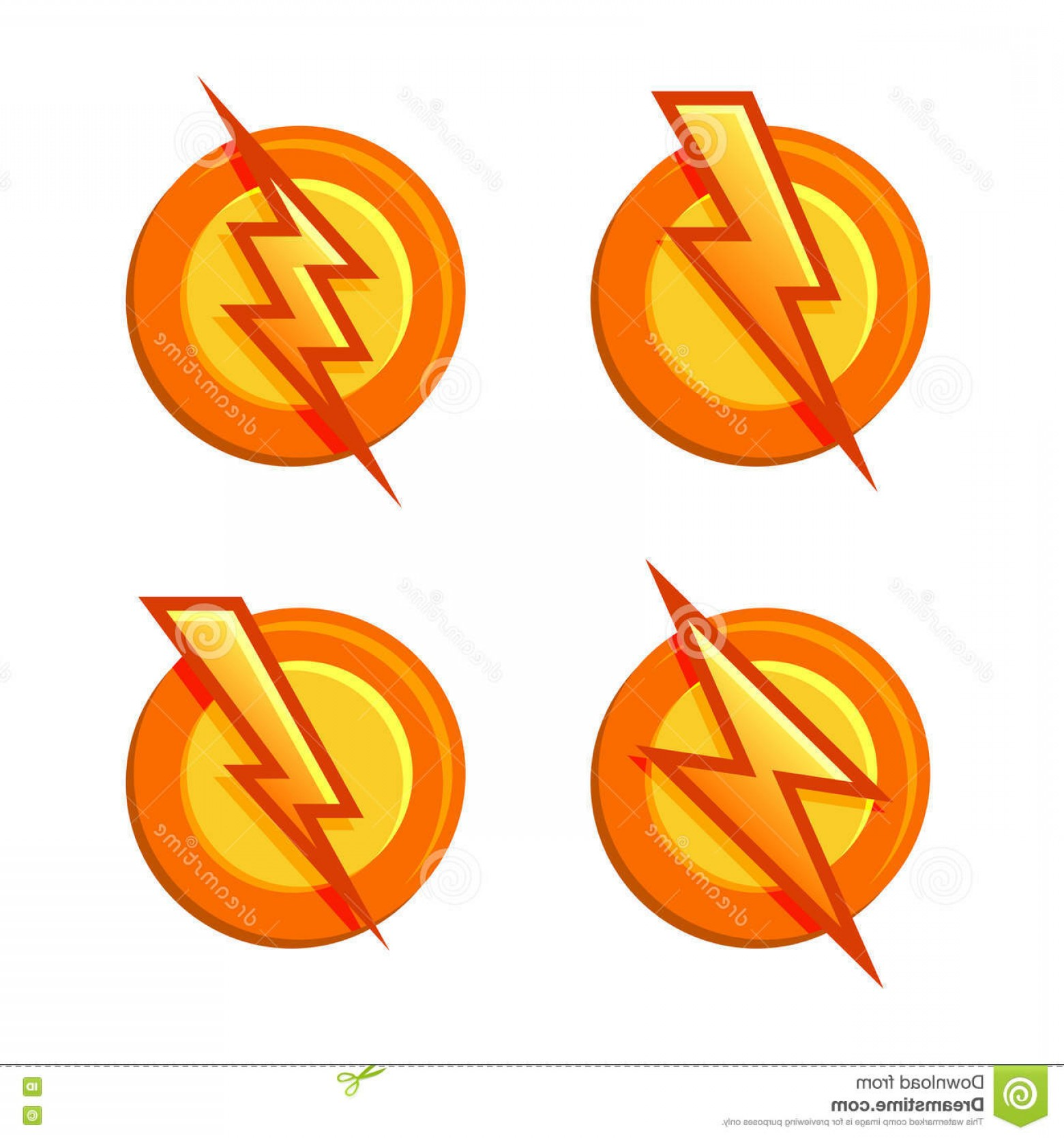 Flash Superhero Logo Vector: Stock Illustration Superhero Sign Flash Icons Set Vector Illustration Image