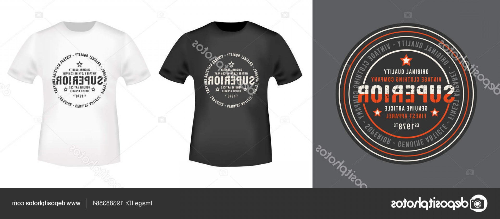 Vector Stamp Shirts: Stock Illustration Superior Stamp And T Shirt