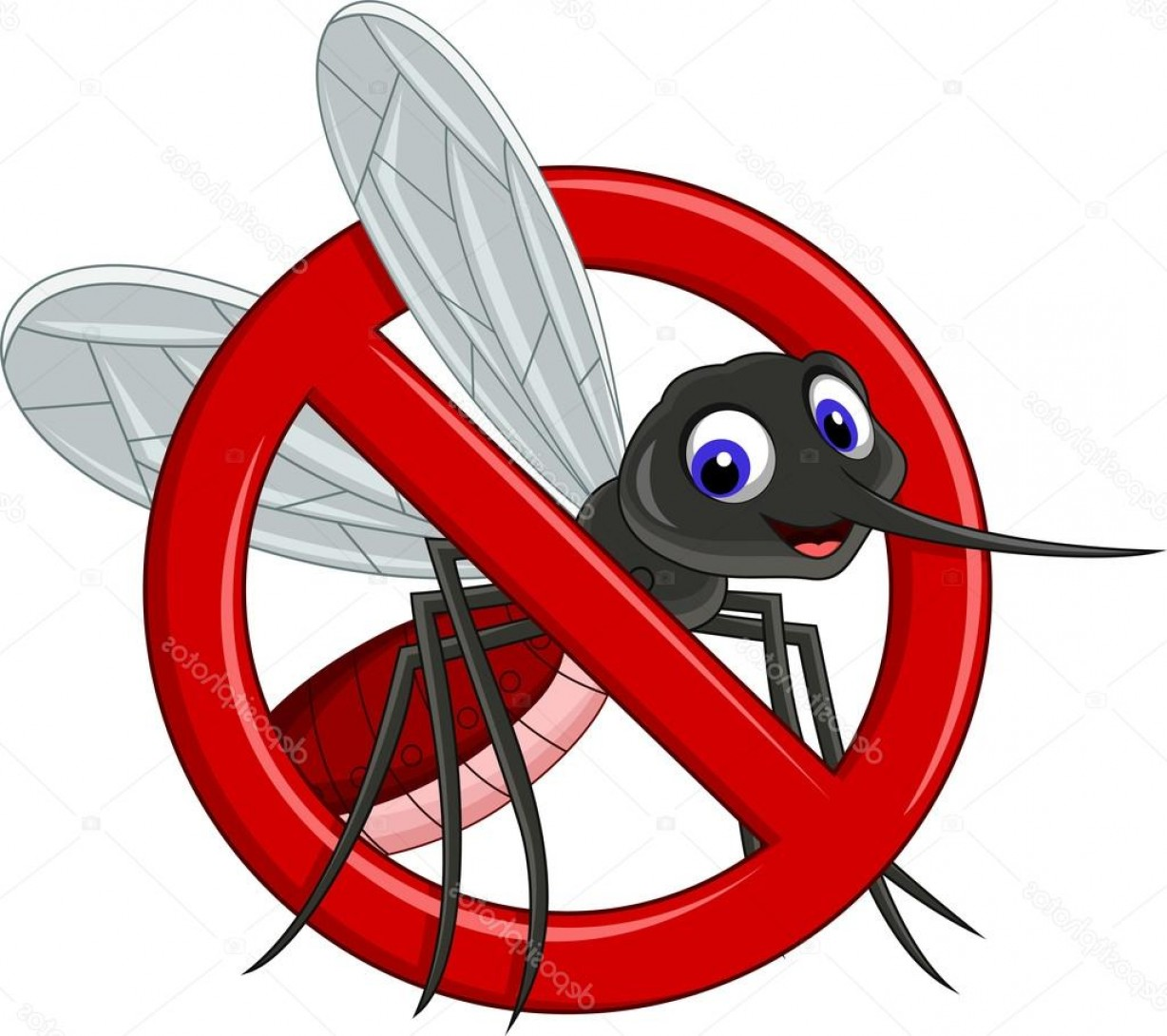 Vector Ban Plus Insecticide: Stock Illustration Symbol Of Antimosquito Cartoon For