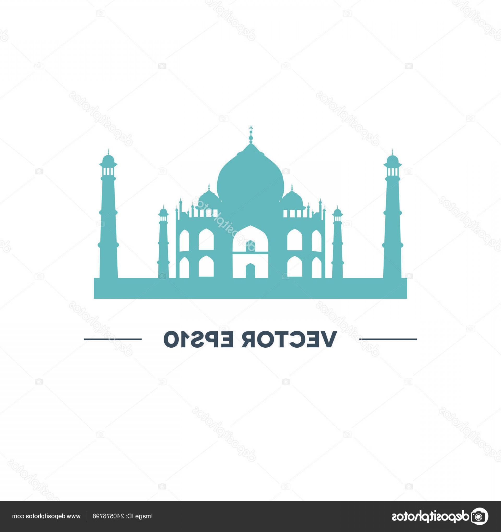 Taj Mahal Vector: Stock Illustration Taj Mahal Vector Icon